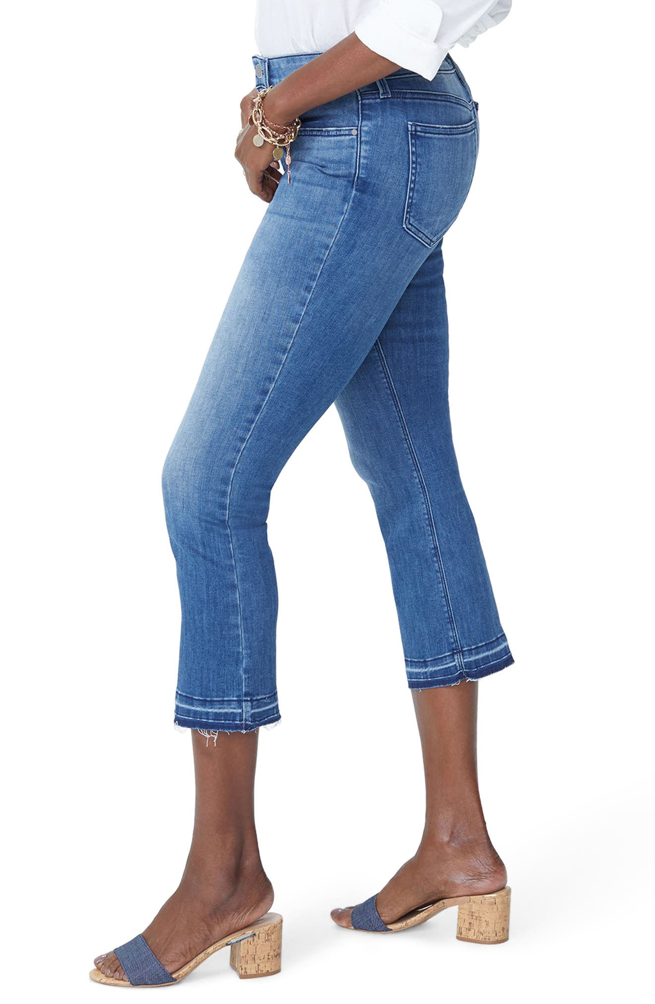 Billie Stretch Crop Bootcut Jeans,                             Alternate thumbnail 3, color,                             PALMER