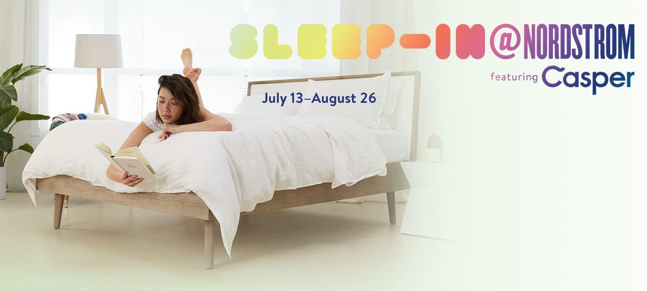 Sleep-In@Nordstrom Pop-In shop. July 13 to August 26.