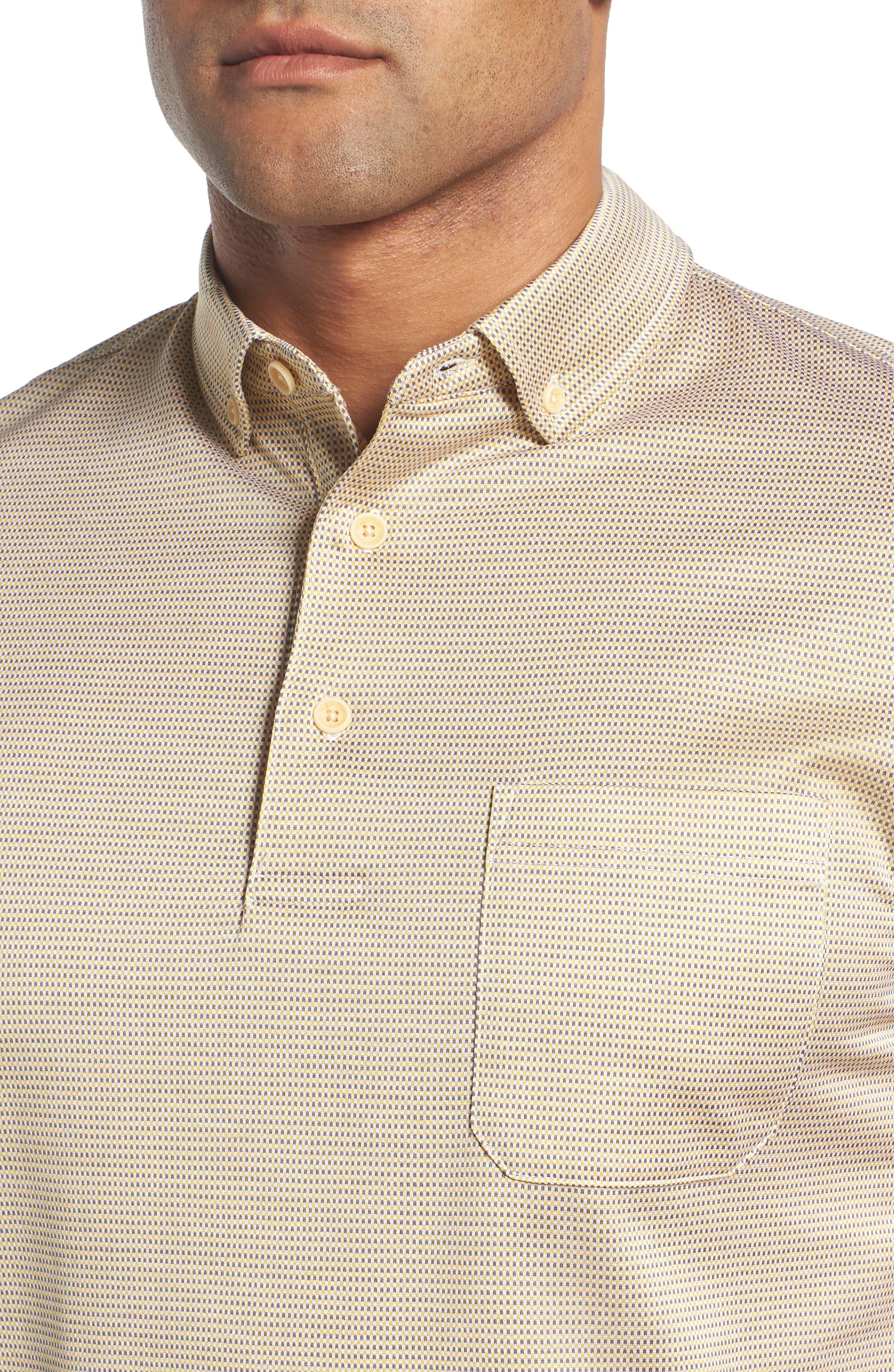 Dot Mercerized Cotton Polo,                             Alternate thumbnail 4, color,                             SUN