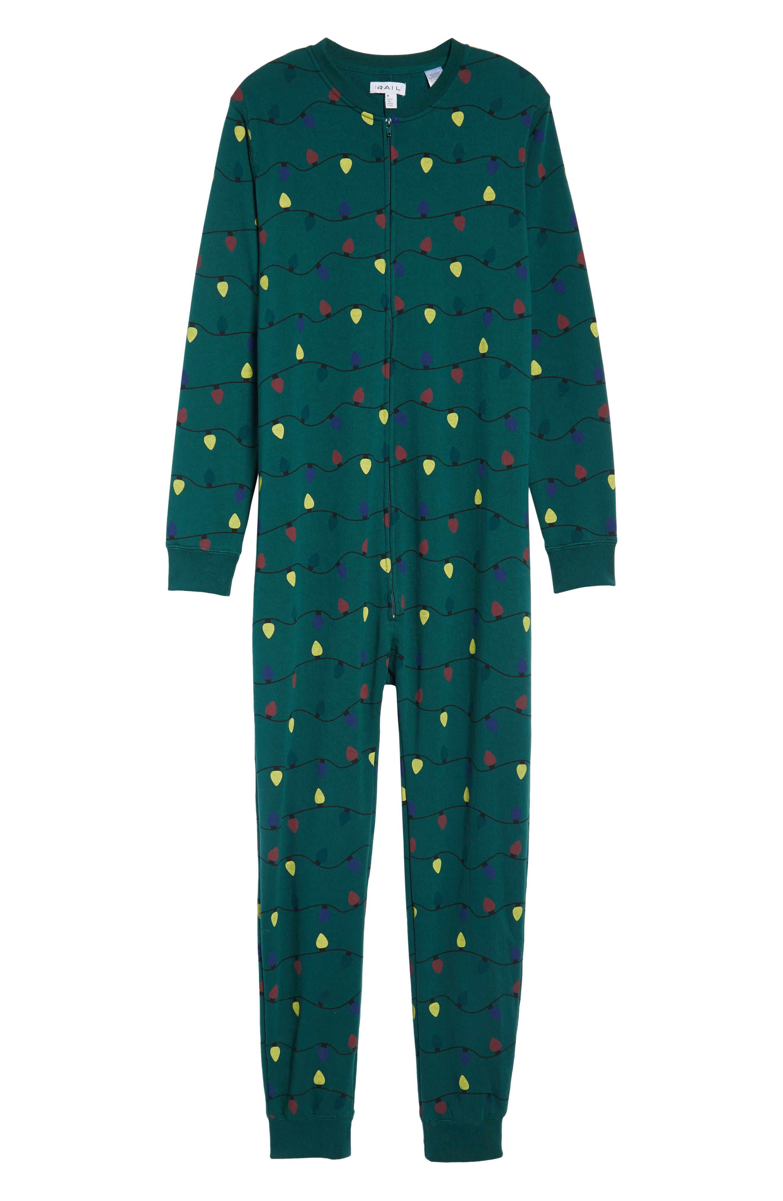Fleece One-Piece Pajamas,                             Alternate thumbnail 32, color,