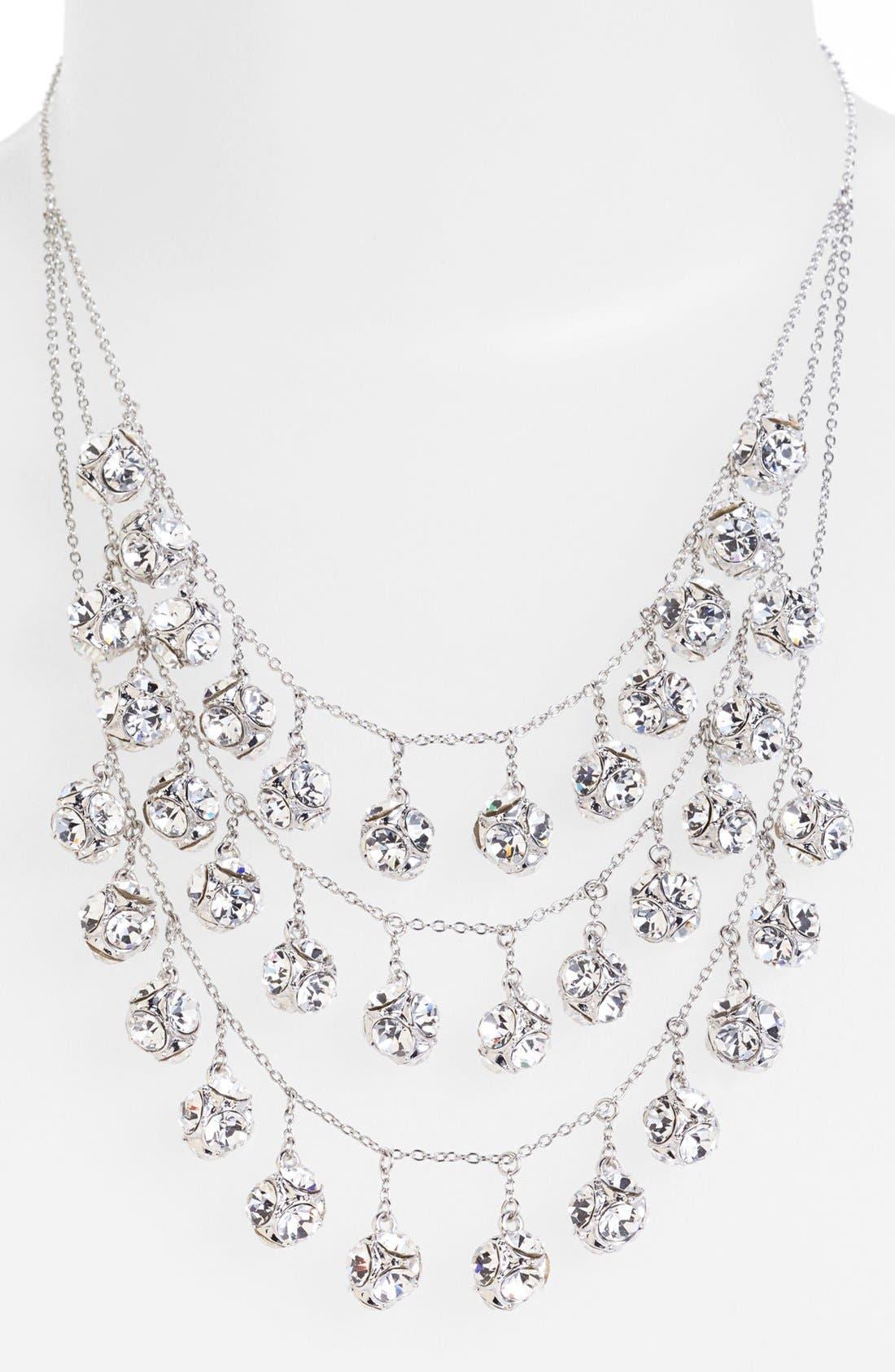 mini fringe bib necklace,                             Alternate thumbnail 2, color,                             040