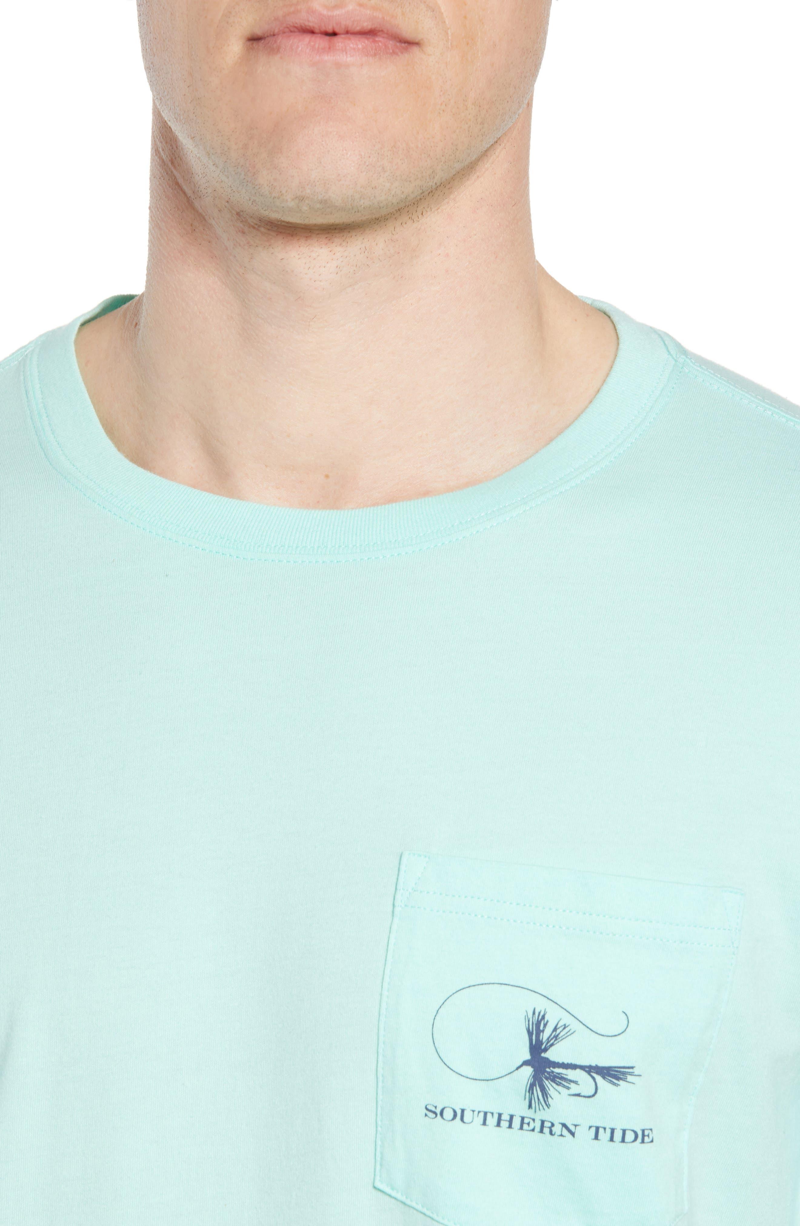 Fly Fishing Regular Fit Pocket T-Shirt,                             Alternate thumbnail 4, color,                             376