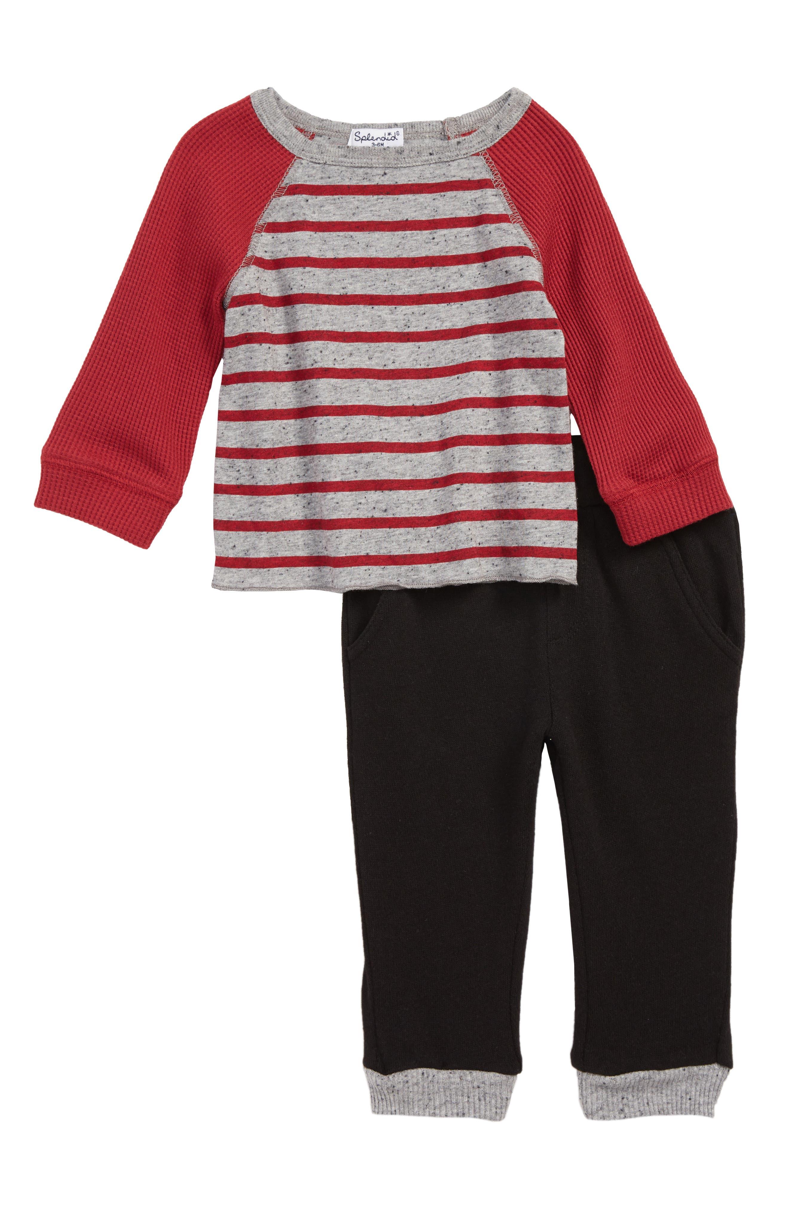 Thermal Raglan T-Shirt & Pants Set,                             Main thumbnail 1, color,                             600