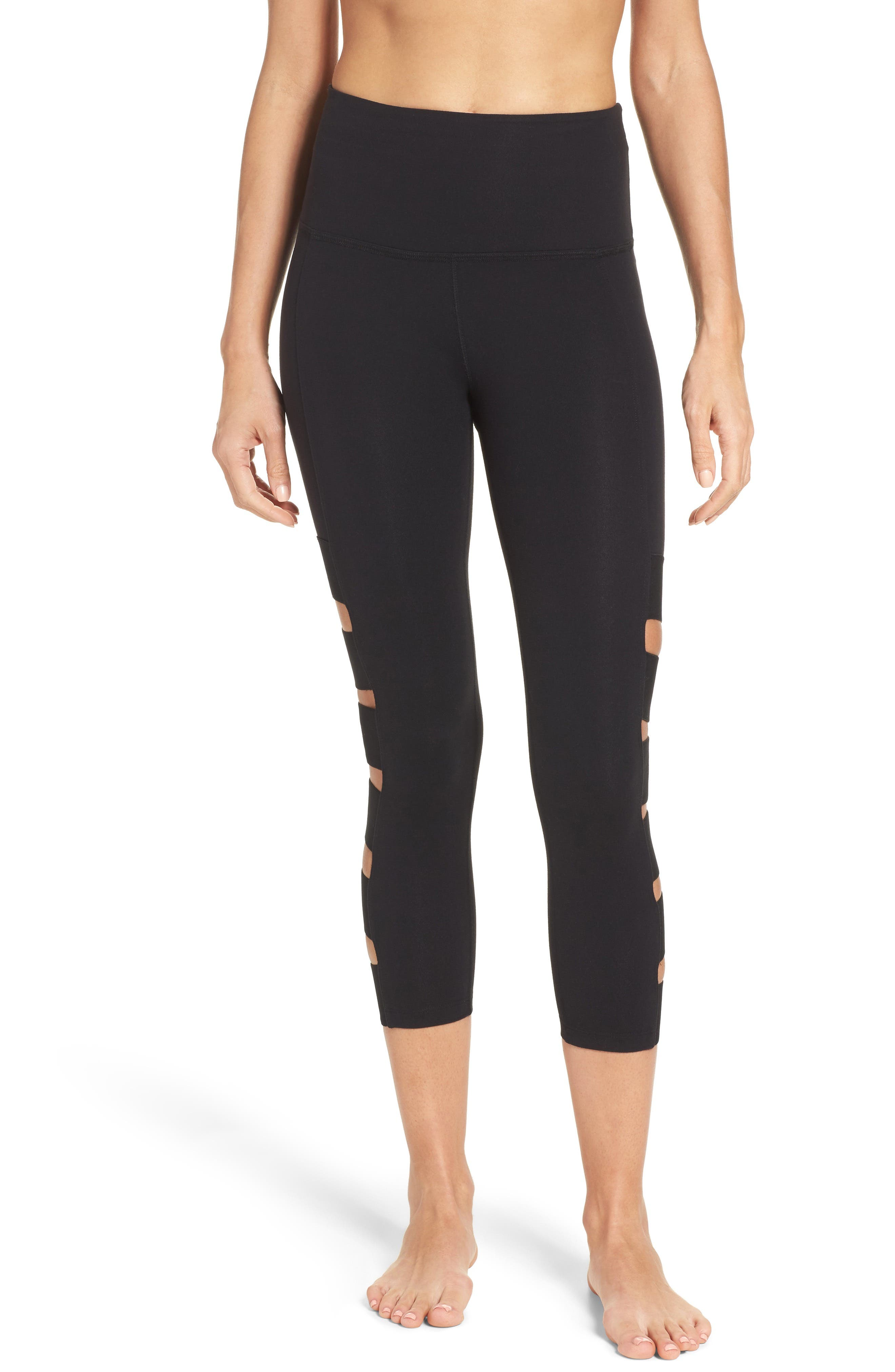 Wide Band Stacked Capris,                             Main thumbnail 1, color,                             002