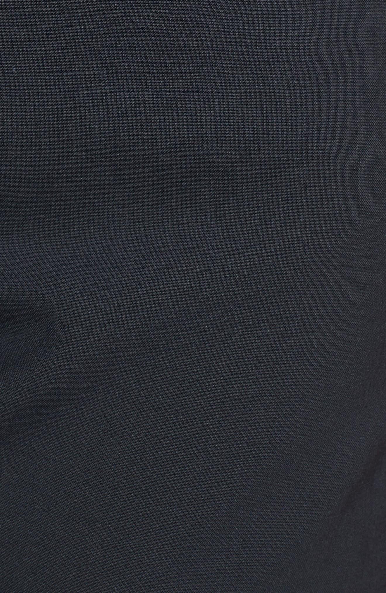 Stretch Wool Tuxedo Pants,                             Alternate thumbnail 3, color,                             BLACK