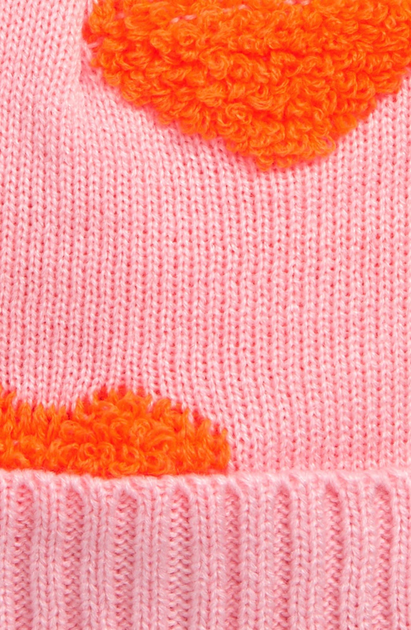 Neon Heart Beanie,                             Alternate thumbnail 2, color,                             PINK PEACHSKIN- PINK HEARTS