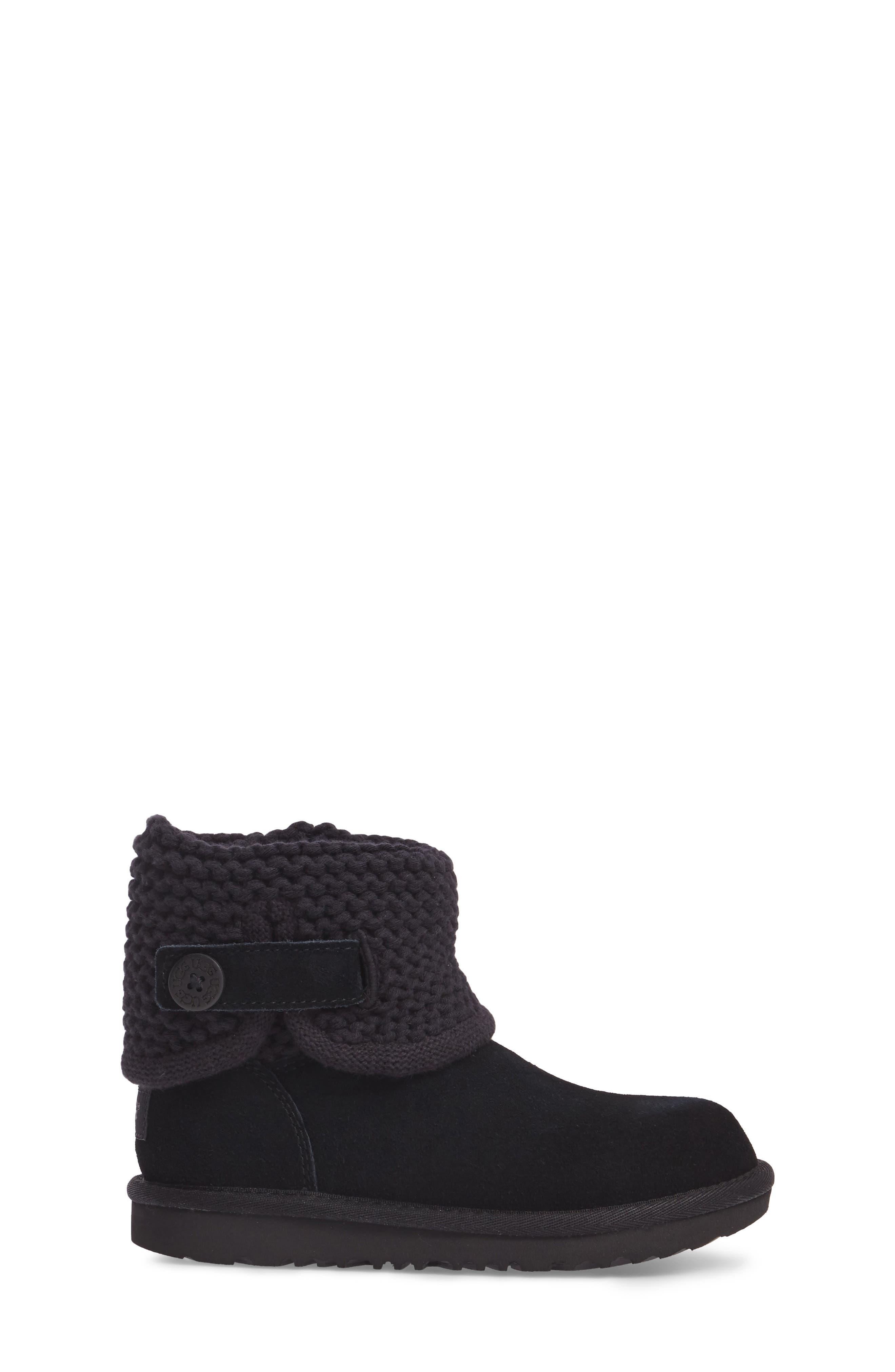Darrah II Knit Cuff Boot,                             Alternate thumbnail 3, color,                             001