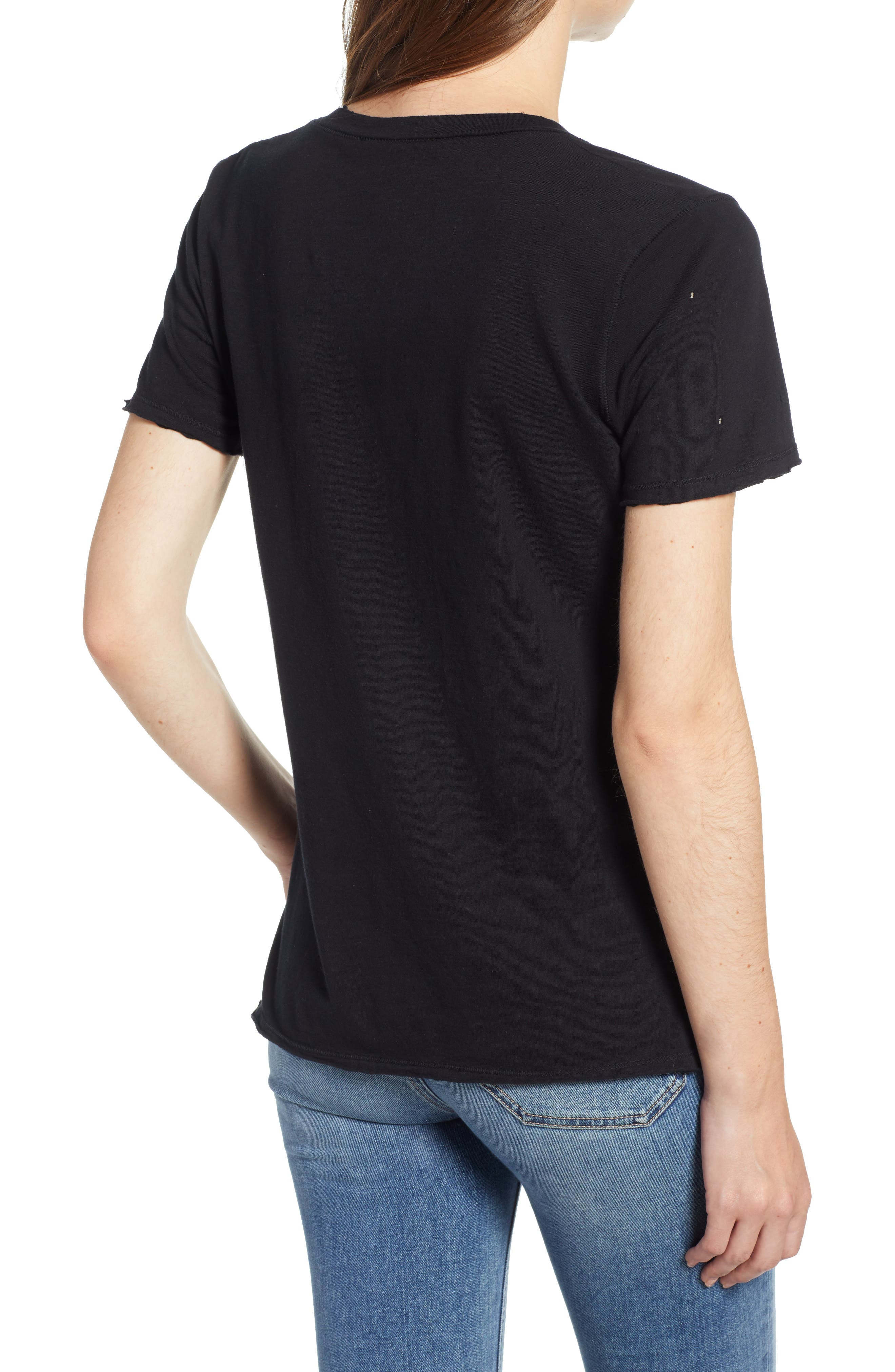 PRINCE PETER,                             Distressed V-Neck Tee,                             Alternate thumbnail 2, color,                             001