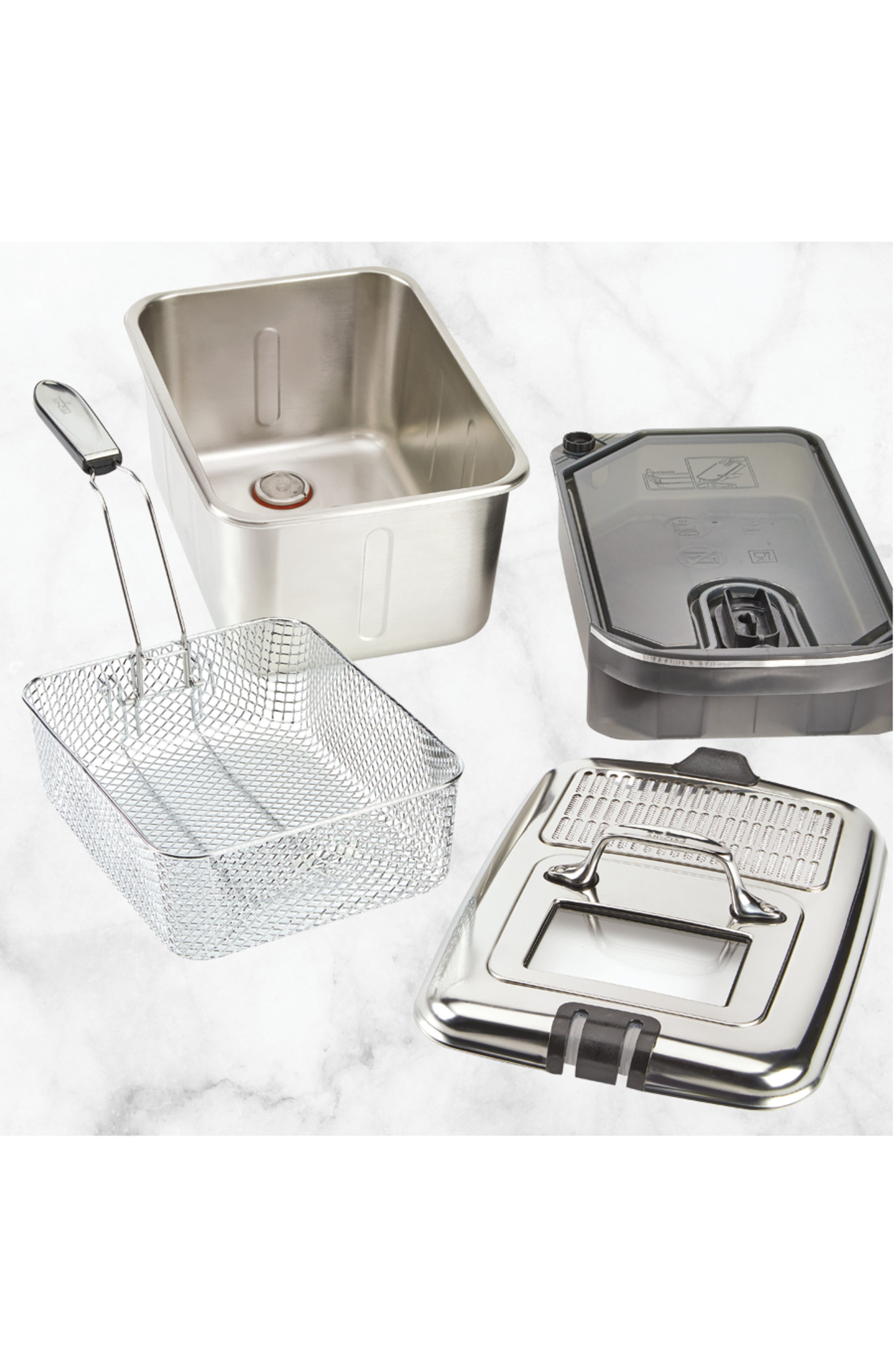 Clean Pro Deep Fryer,                             Alternate thumbnail 3, color,                             SILVER