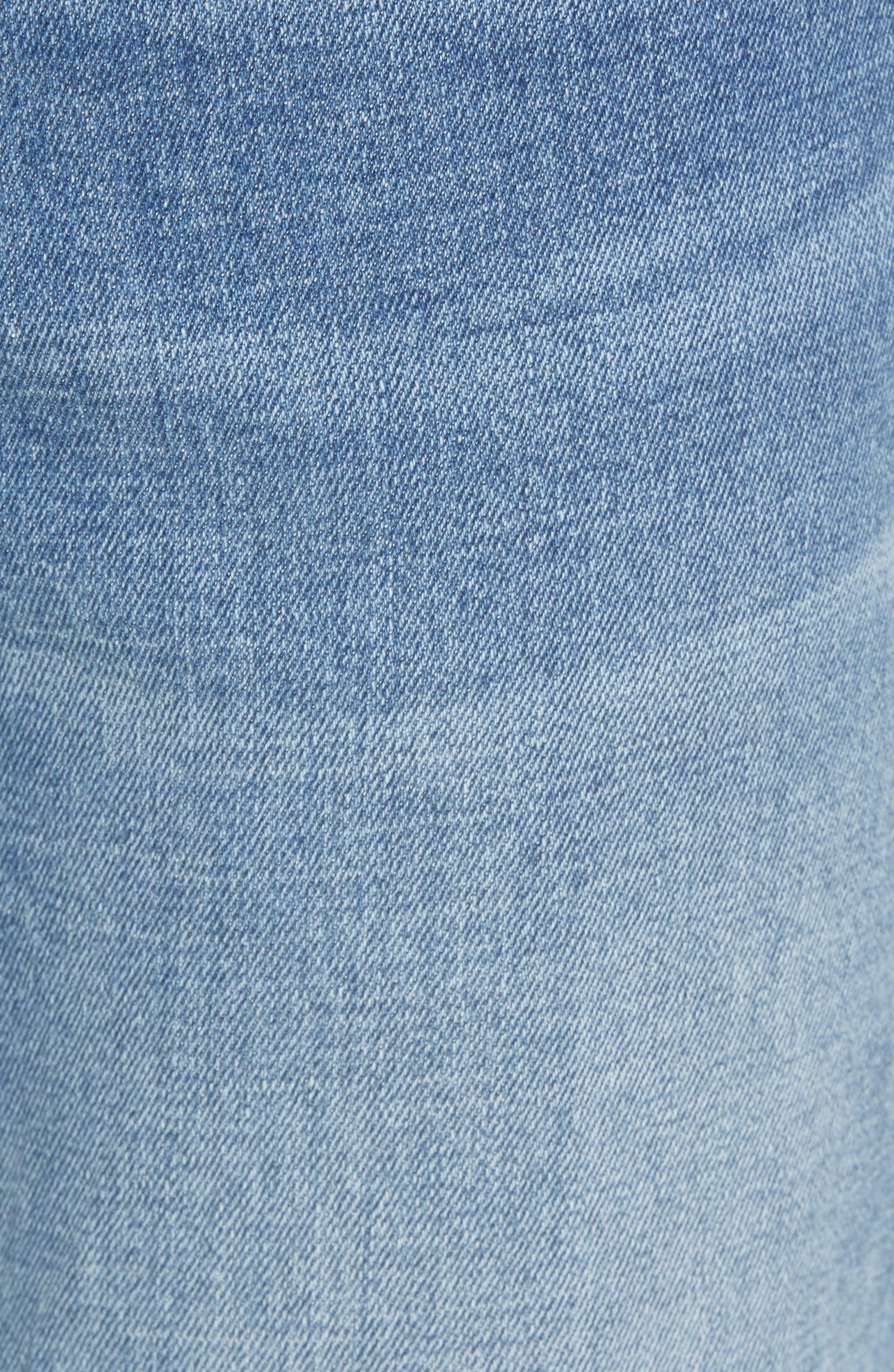 Skinny Moto Jeans,                             Alternate thumbnail 5, color,                             BLUE RIVERS WASH