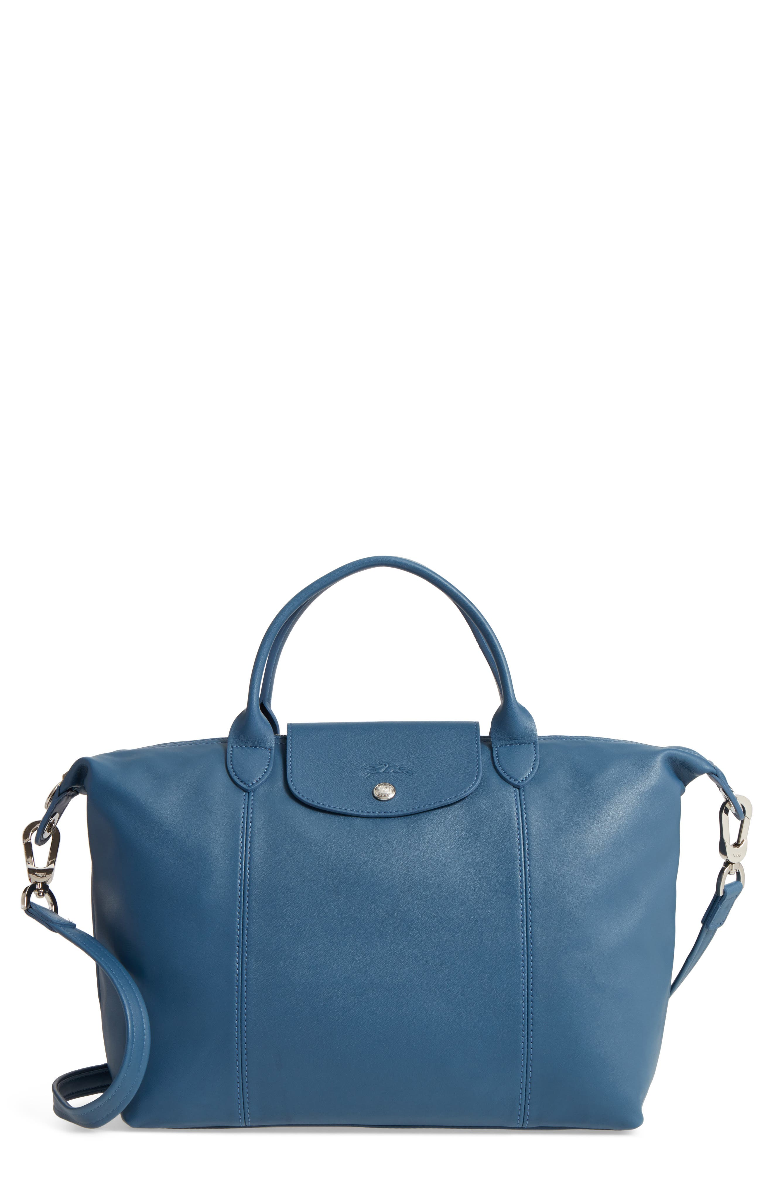 Medium 'Le Pliage Cuir' Leather Top Handle Tote,                             Main thumbnail 17, color,