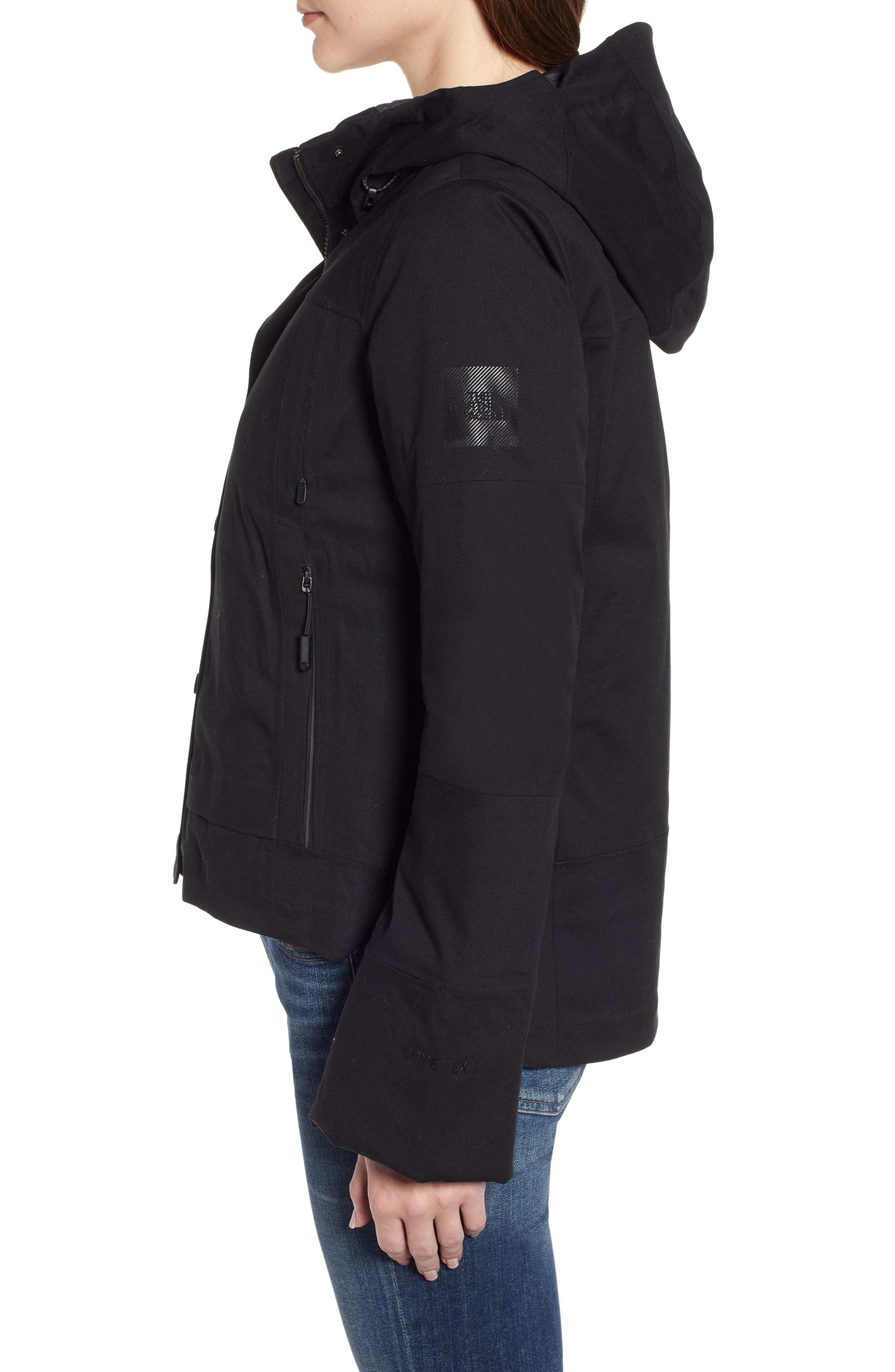 THE NORTH FACE,                             Cryos 2L Mountain Gore-Tex<sup>®</sup> Down Jacket,                             Alternate thumbnail 3, color,                             TNF BLACK