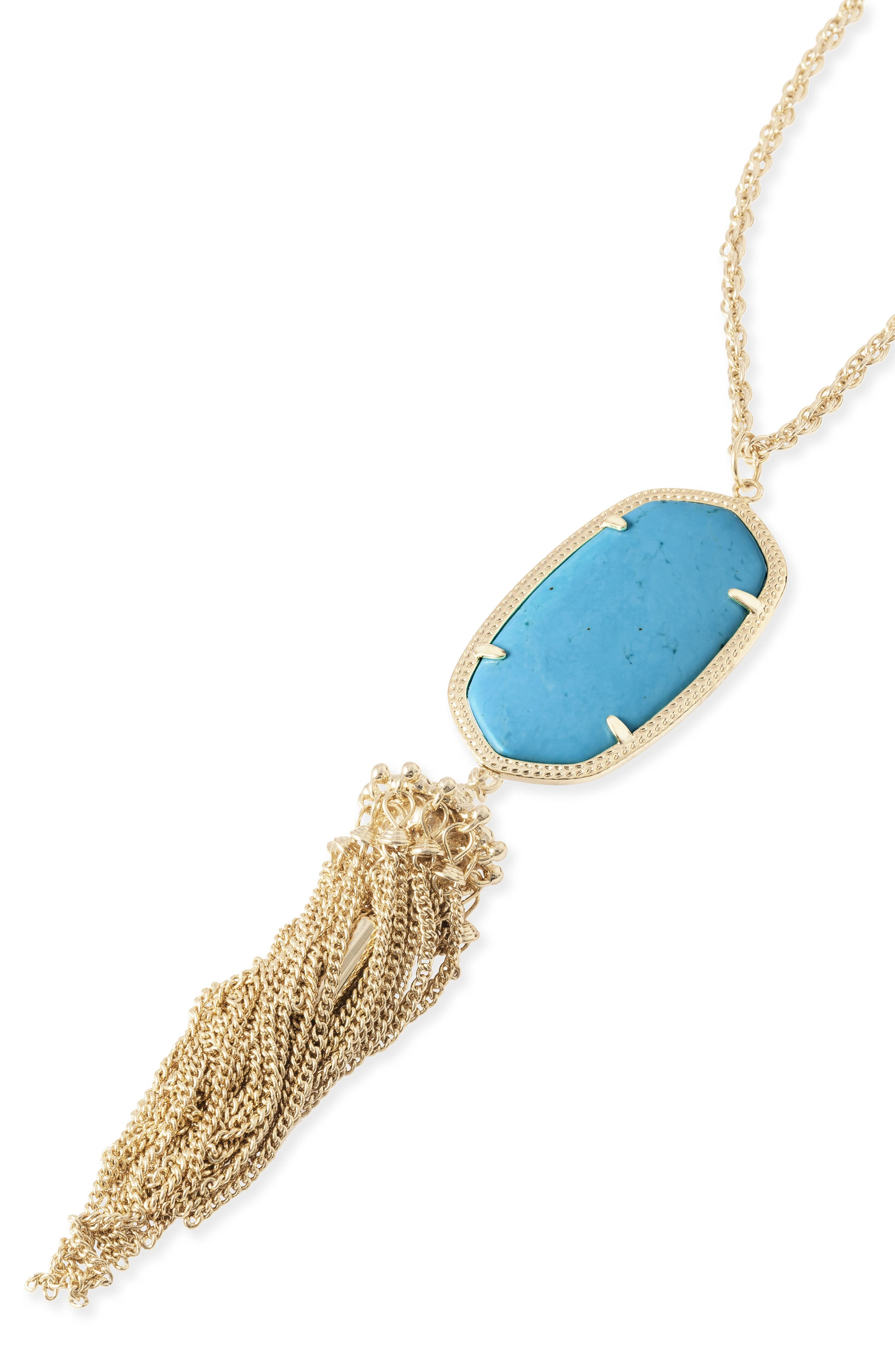 Rayne Stone Tassel Pendant Necklace,                             Alternate thumbnail 345, color,