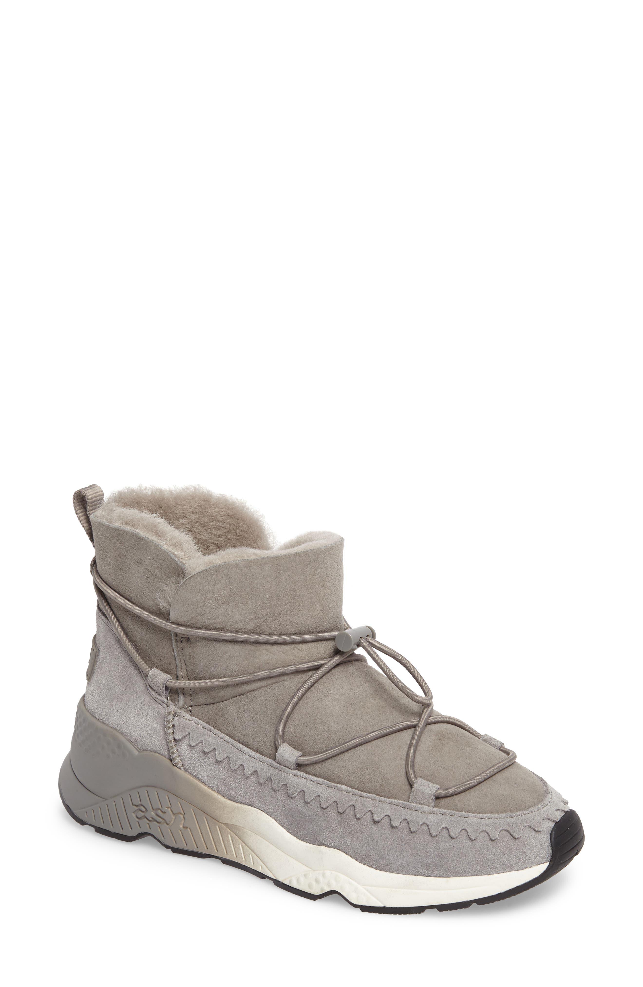 Mitsouko Genuine Shearling Sneaker,                         Main,                         color,
