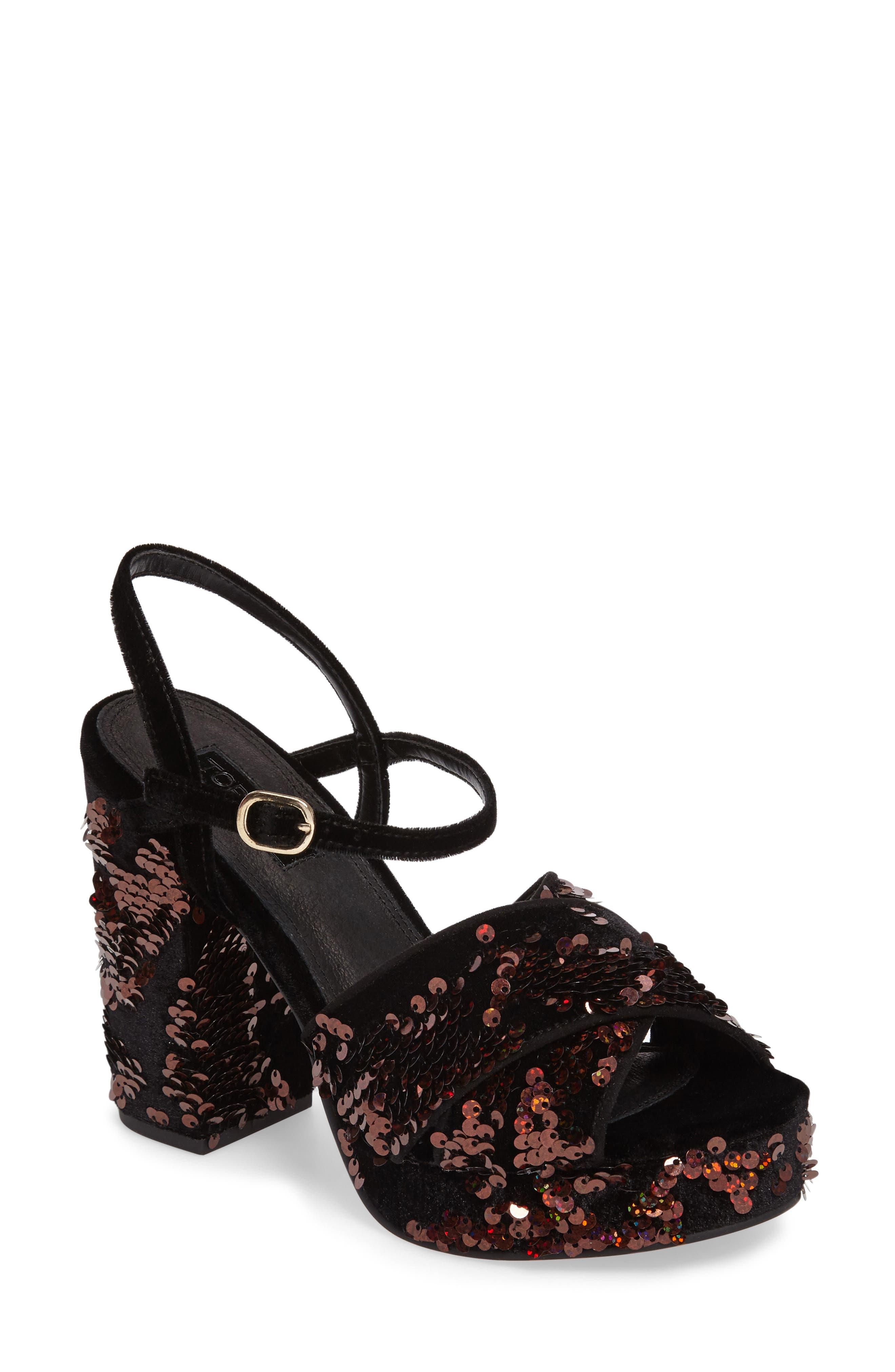 'Leona' Print Platform Sandal,                         Main,                         color, 002