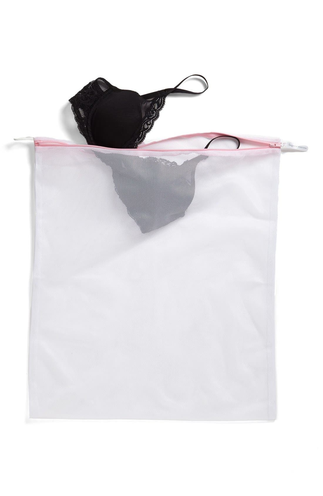 Large Lingerie Wash Bag,                             Alternate thumbnail 3, color,                             WHITE