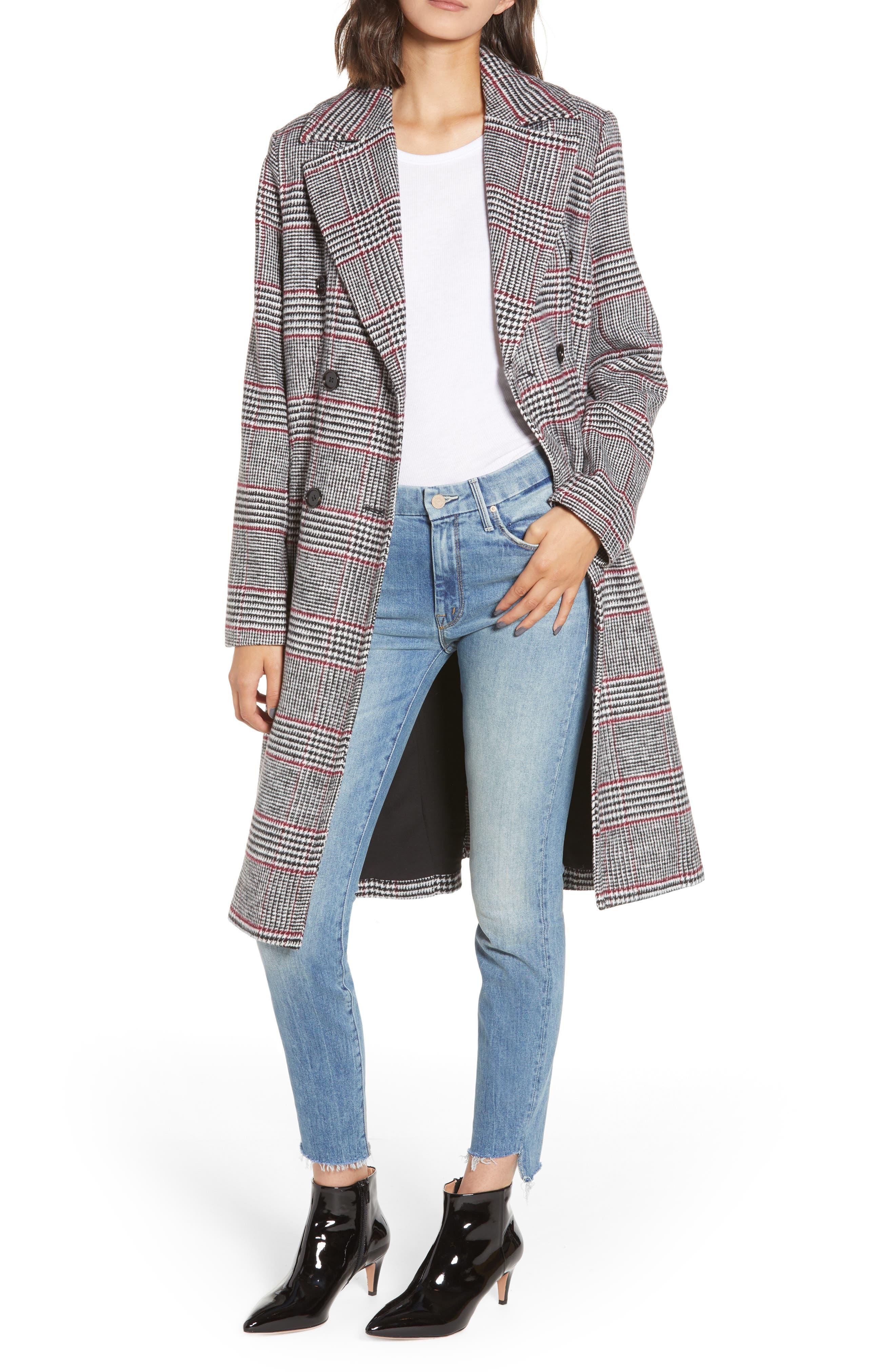 Double Breasted Long Jacket,                             Main thumbnail 1, color,                             001