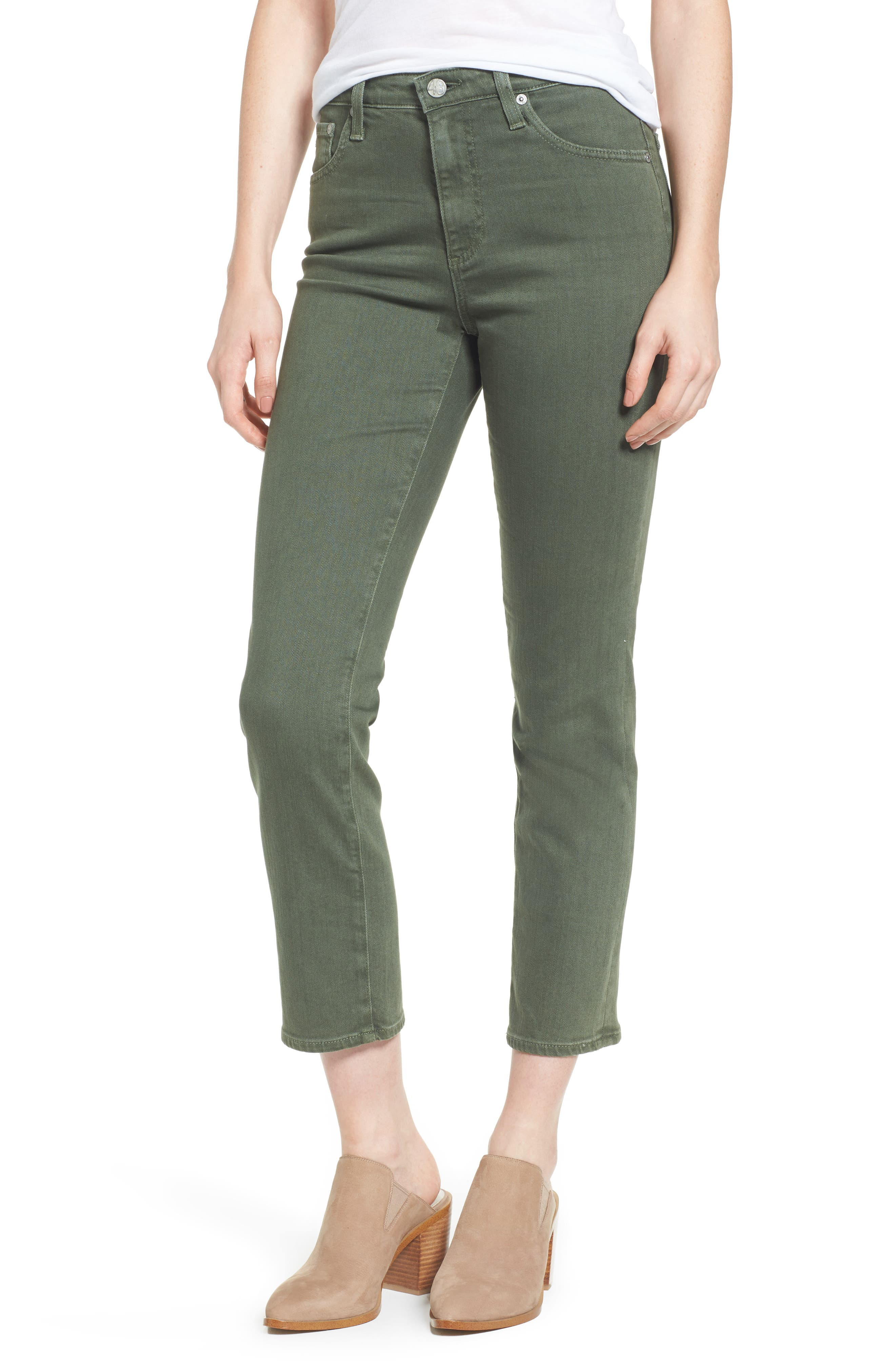 The Isabelle High Waist Crop Straight Leg Jeans,                             Main thumbnail 1, color,
