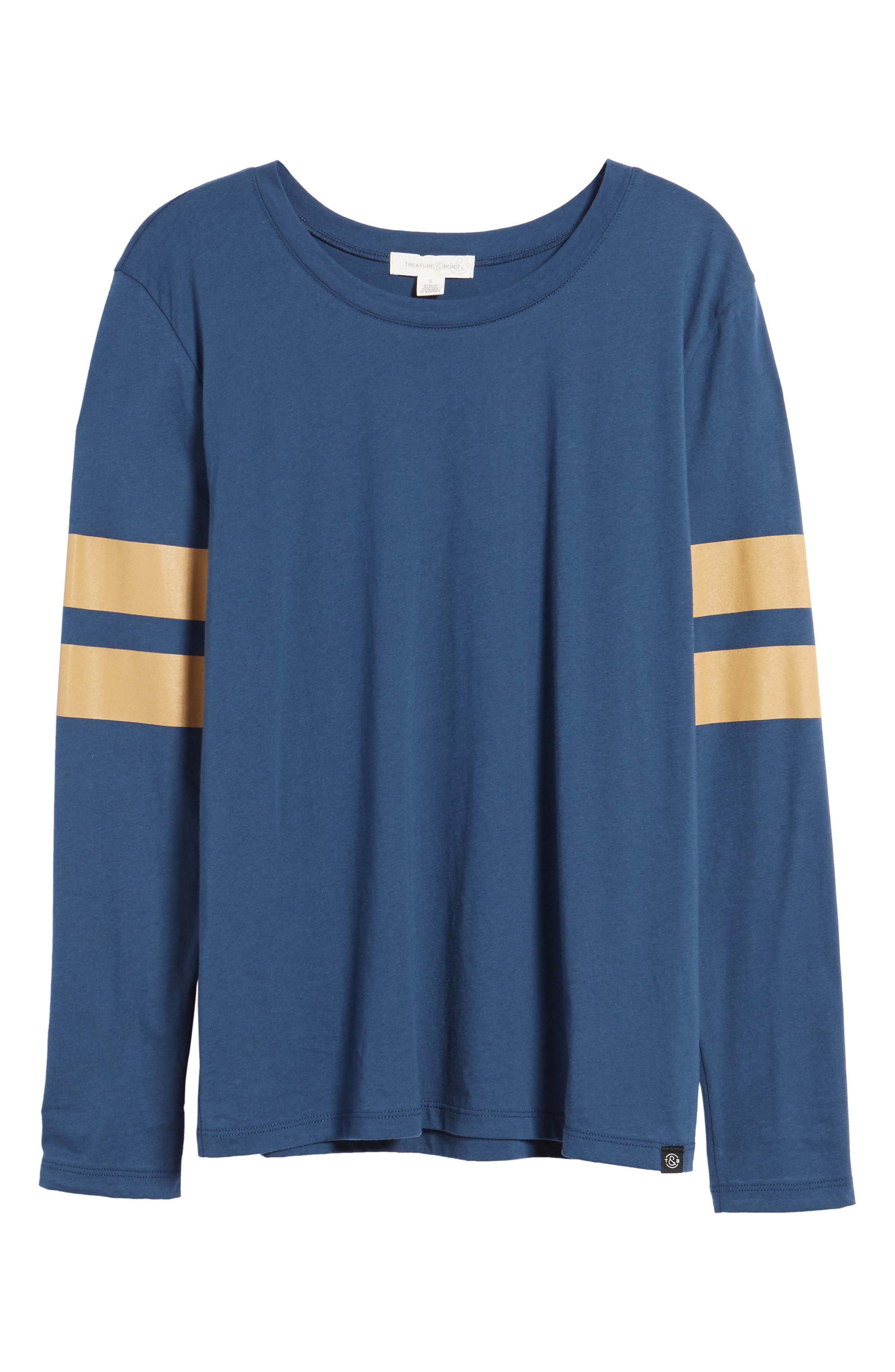 Varsity Stripe Cotton Tee,                             Alternate thumbnail 117, color,