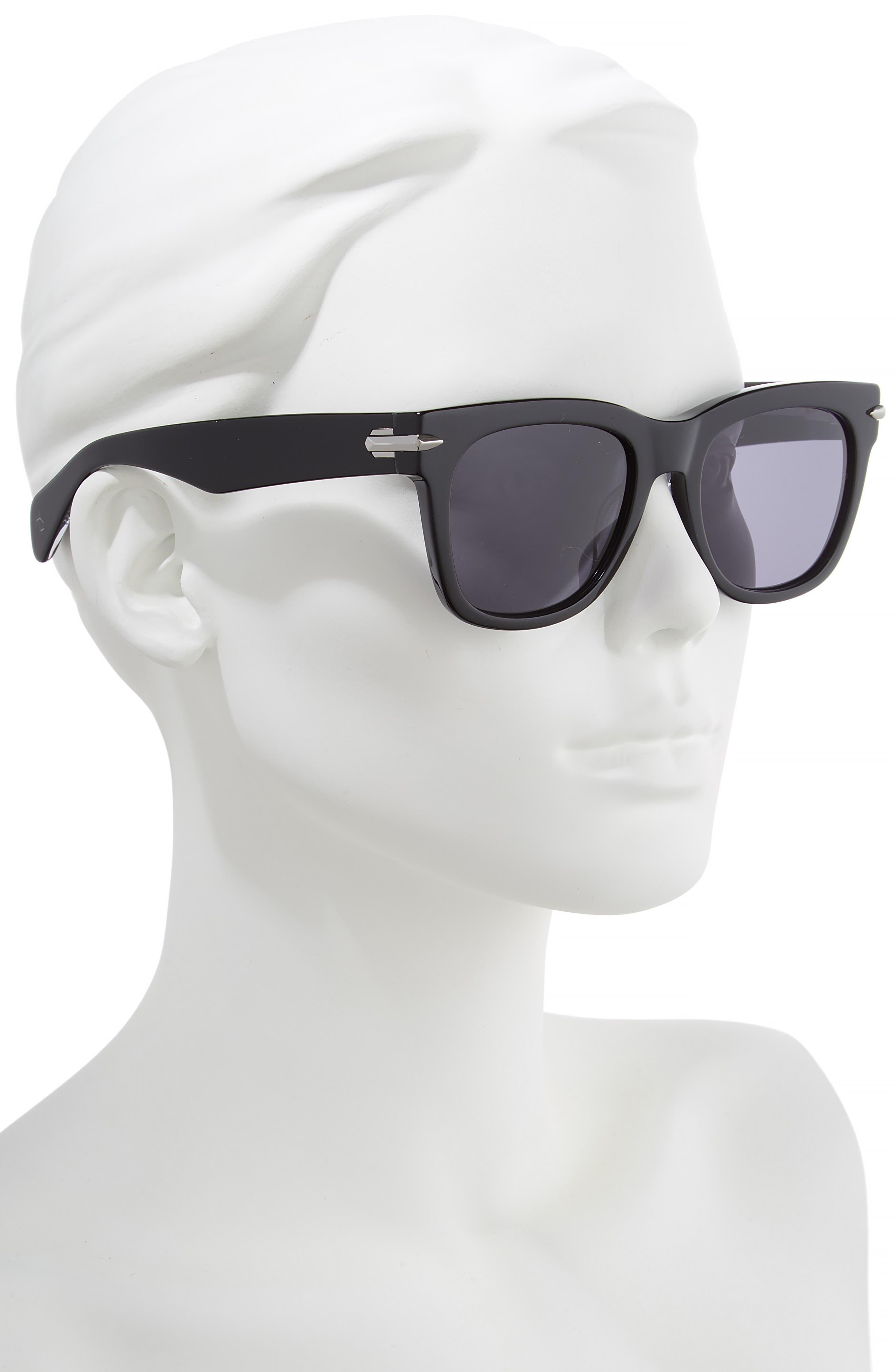 54mm Polarized Sunglasses,                             Alternate thumbnail 2, color,                             BLACK