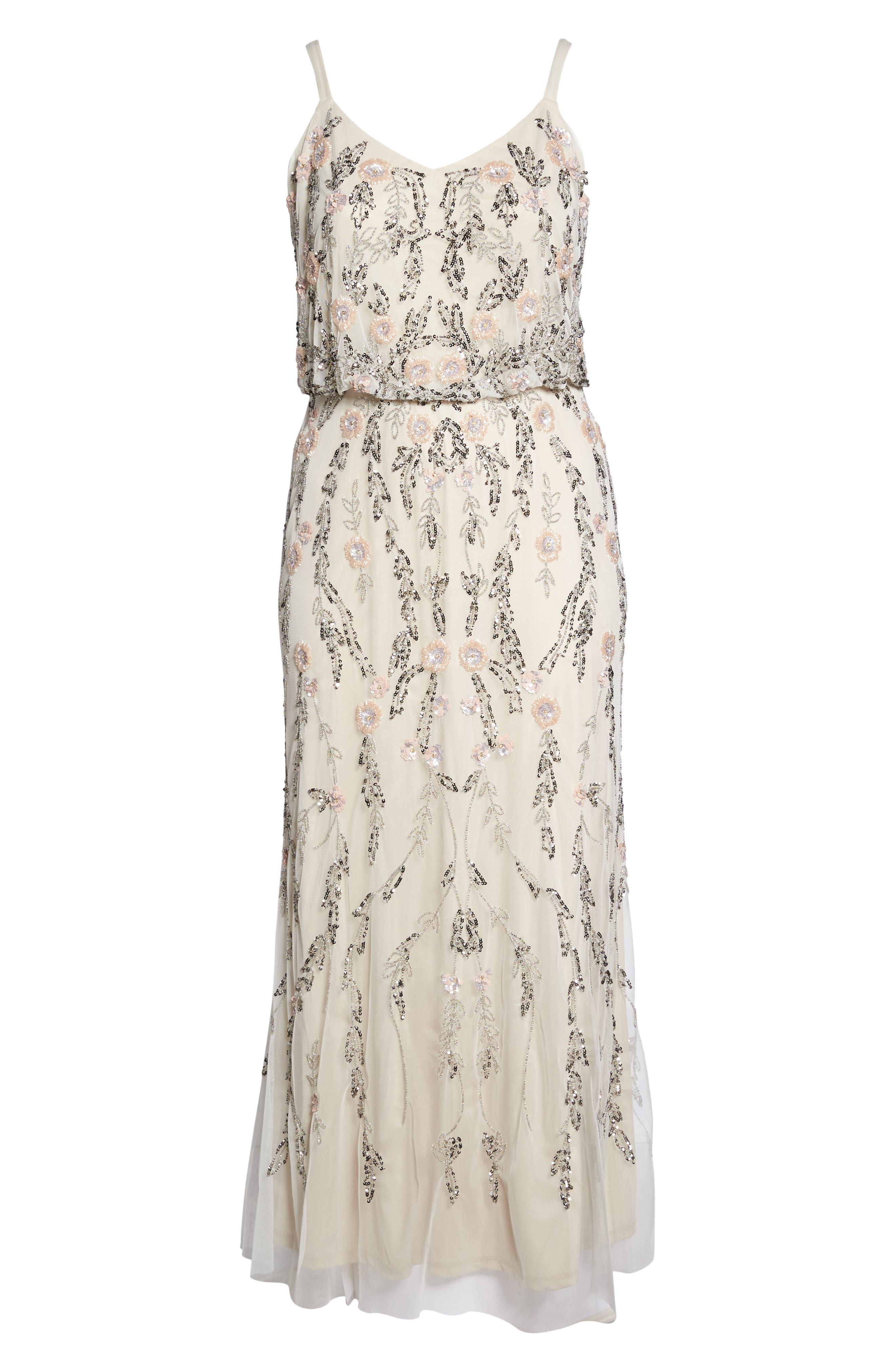 Beaded Blouson Gown,                             Alternate thumbnail 6, color,                             900