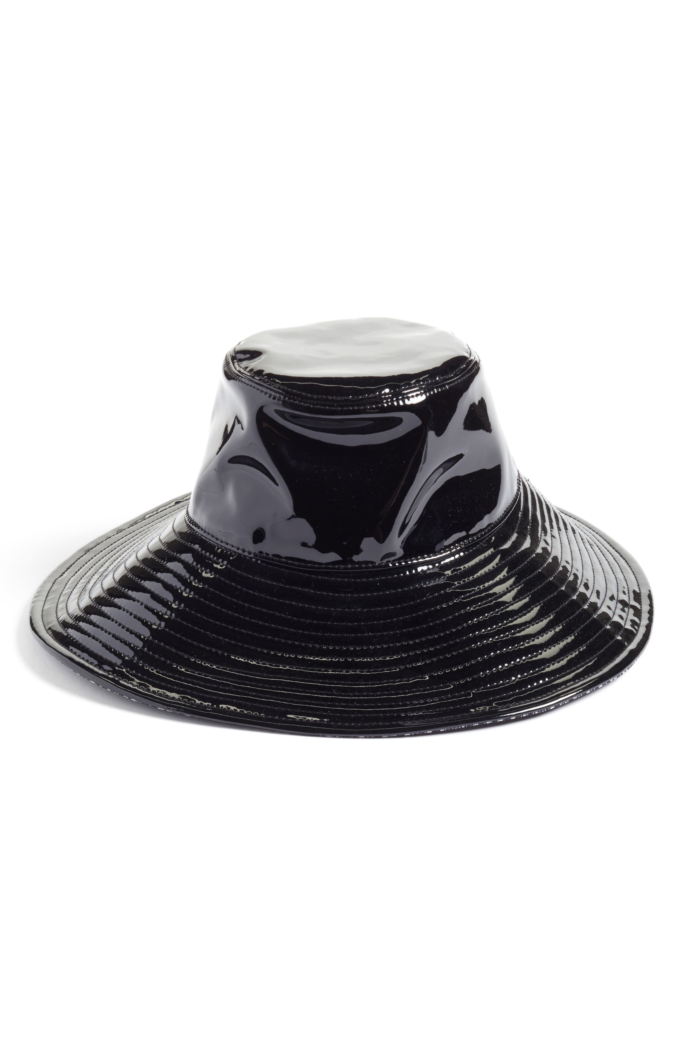 Driptidoo Patent Bucket Rain Hat,                             Main thumbnail 1, color,                             BLACK