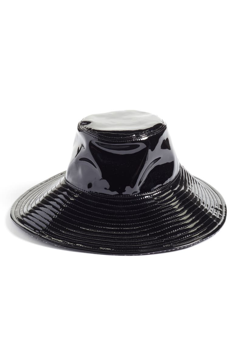 ERIC JAVITS Driptidoo Patent Bucket Rain Hat, Main, color, BLACK
