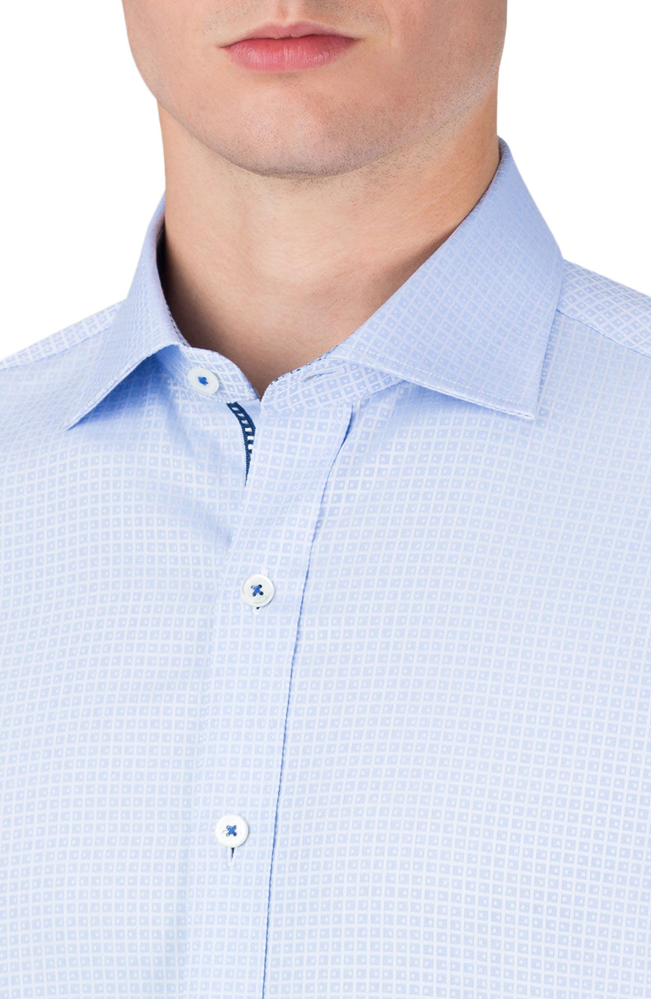 Shaped Fit Sport Shirt,                             Alternate thumbnail 3, color,                             459