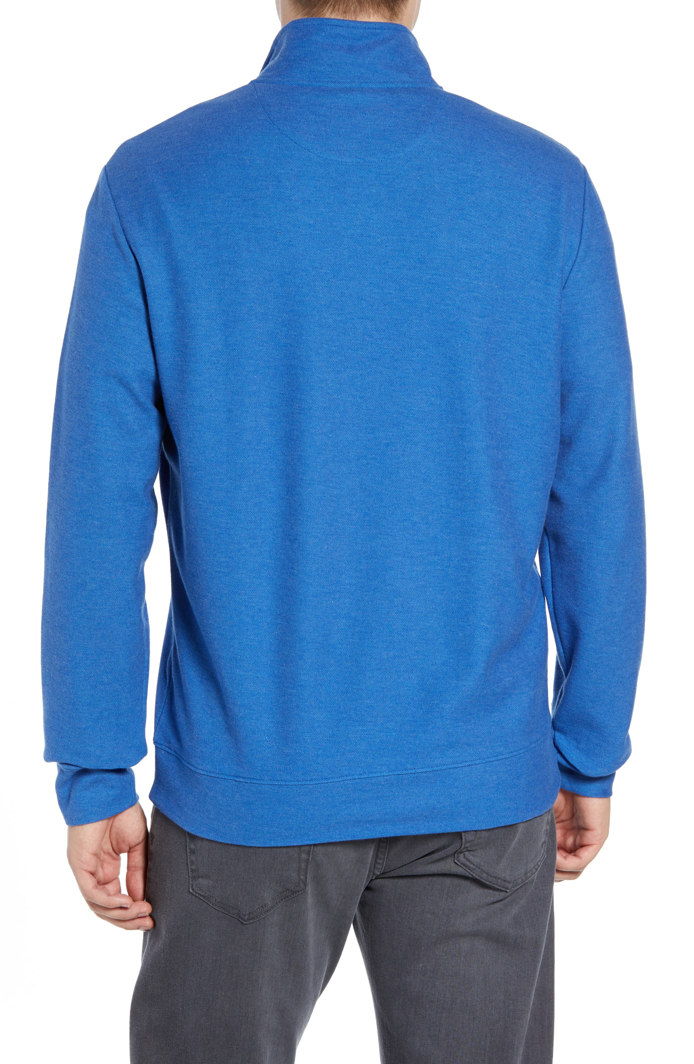 Breaker Saltwater Quarter Zip Pullover,                             Alternate thumbnail 2, color,                             HULL BLUE