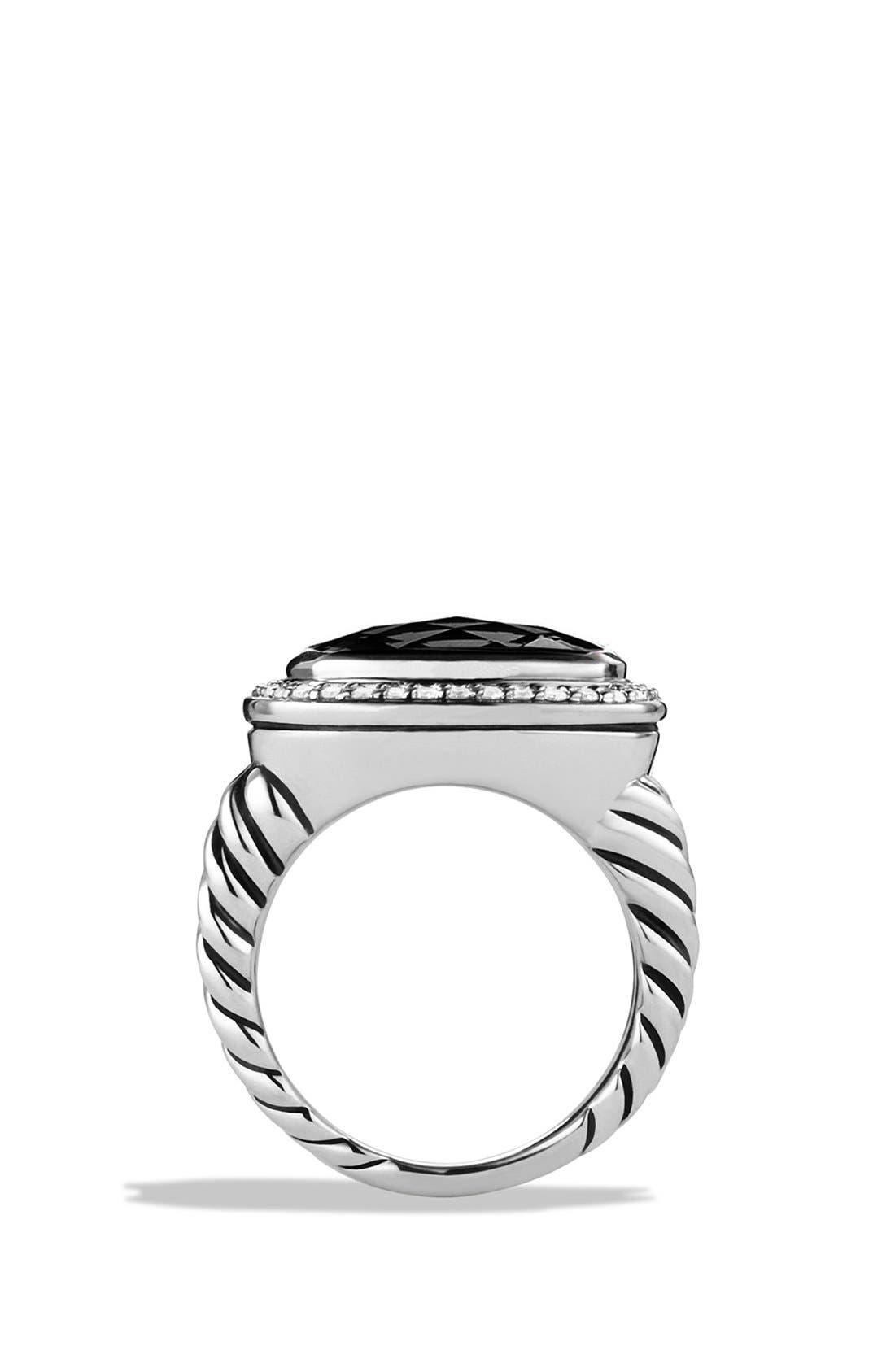 'Albion' Ring with Semiprecious Stone & Diamonds,                             Alternate thumbnail 3, color,                             001