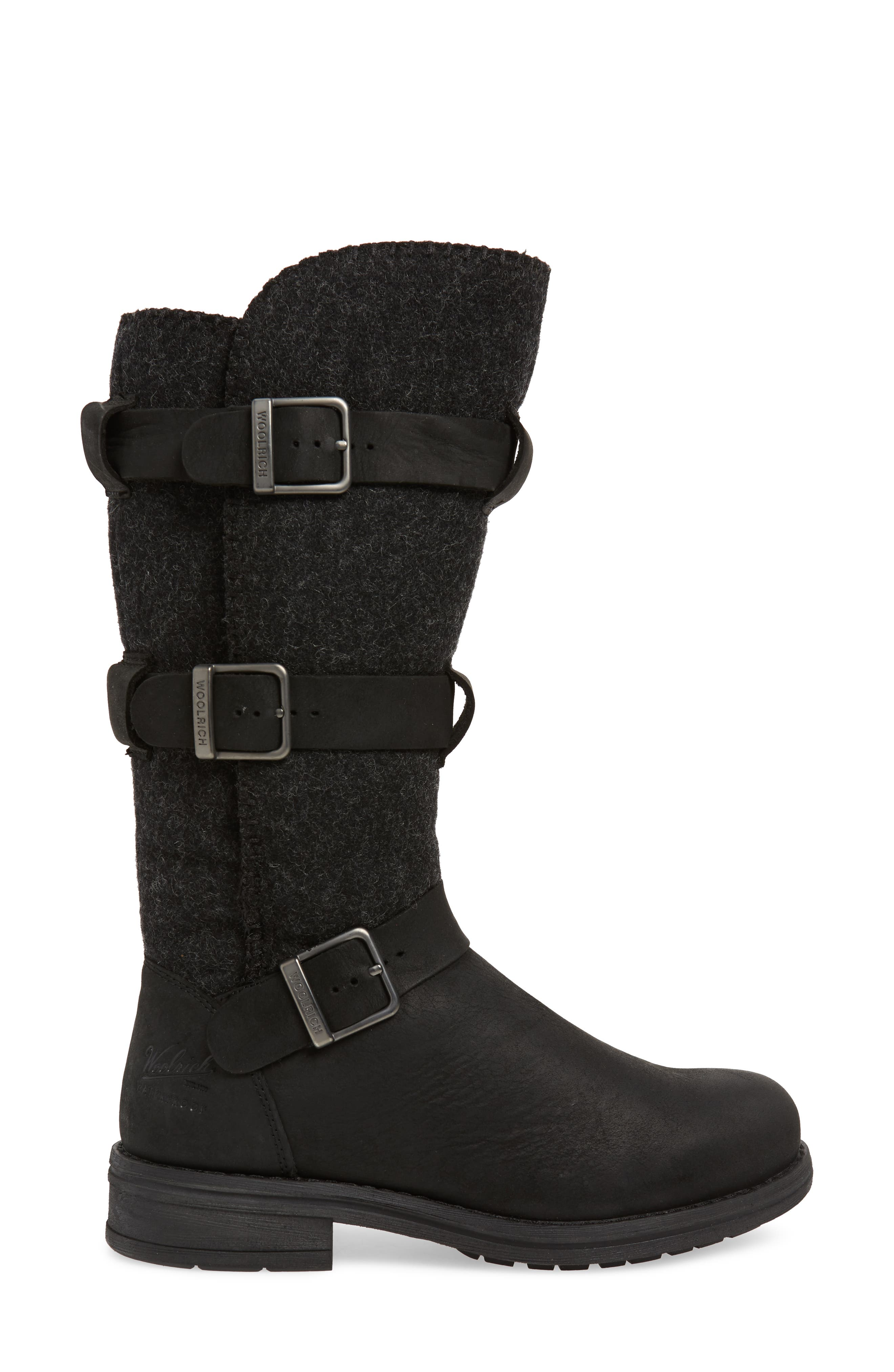 Frontier Boot,                             Alternate thumbnail 3, color,                             BLACK LEATHER