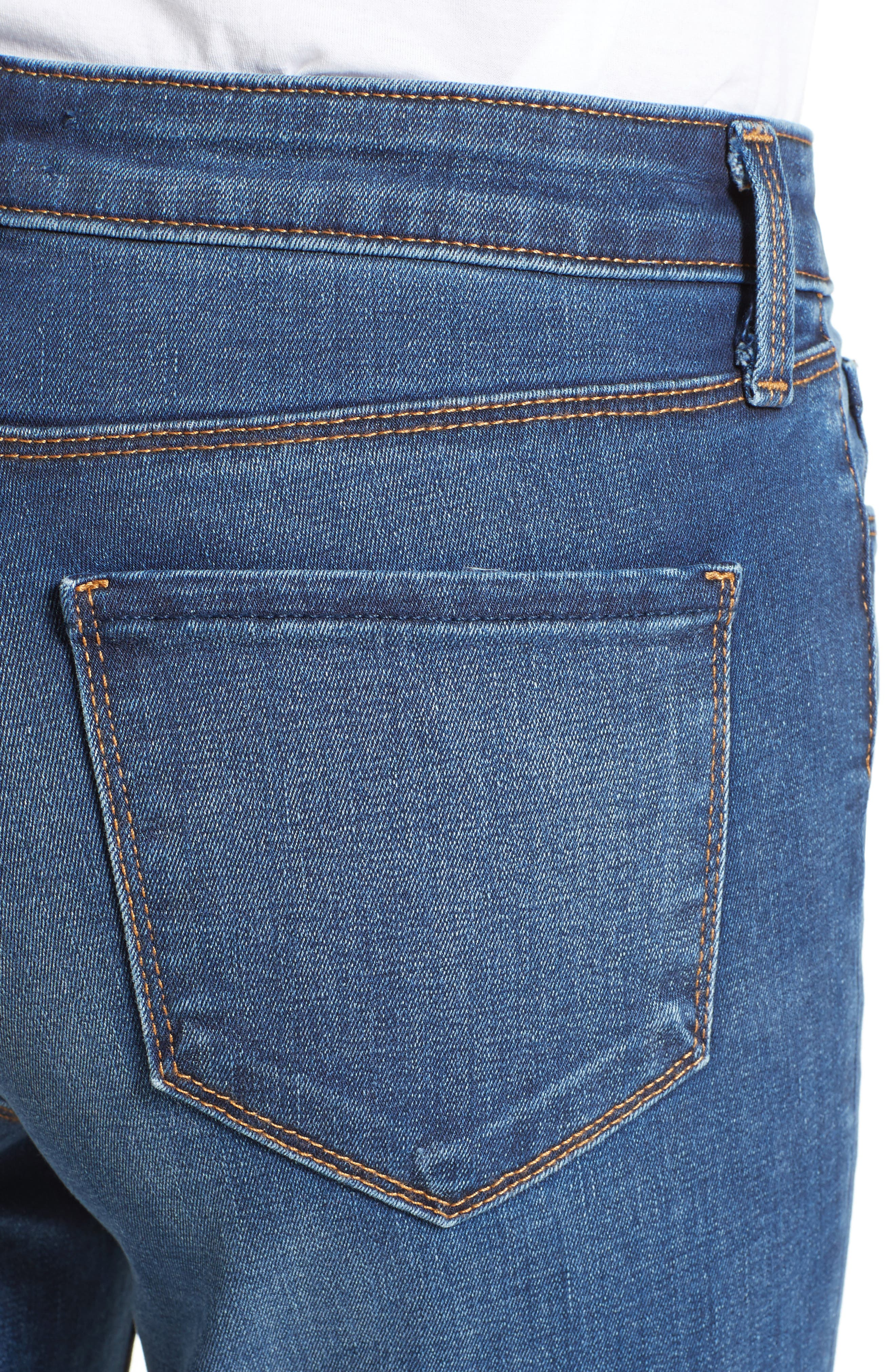 Crop Baby Flare Jeans,                             Alternate thumbnail 4, color,