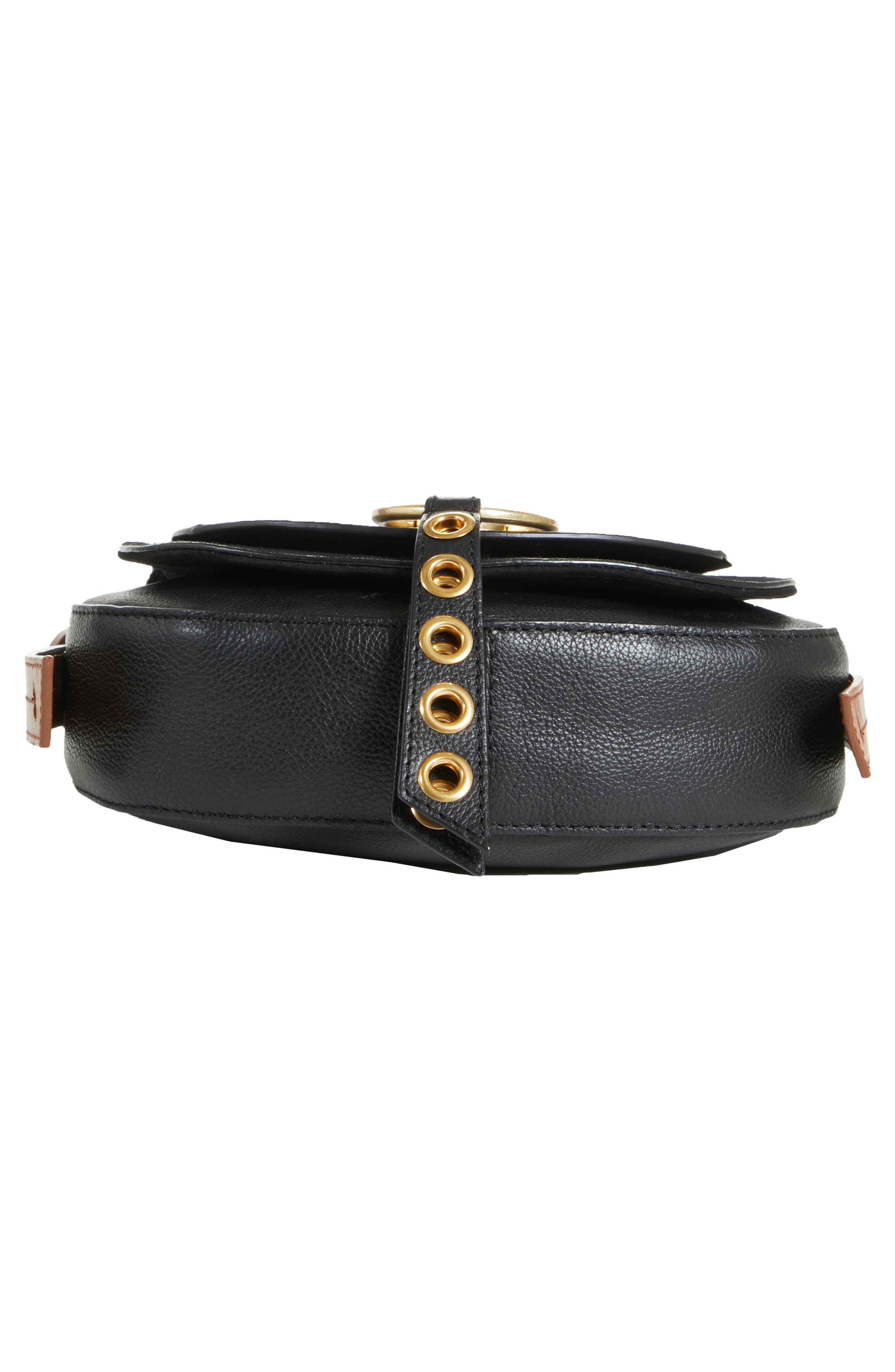 Small Lumir Leather Crossbody Bag,                             Alternate thumbnail 6, color,                             001