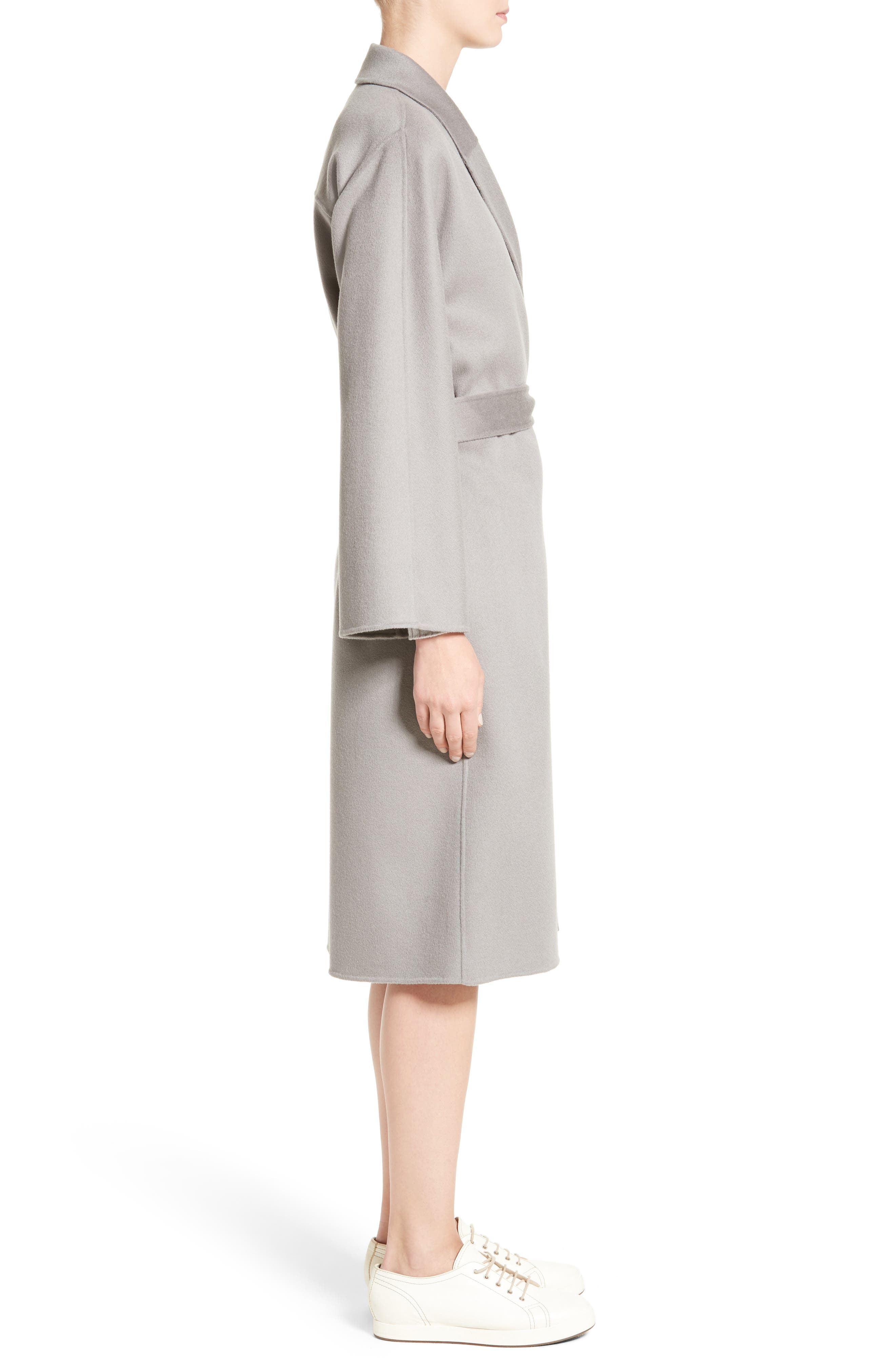 Double Face Cashmere Wrap Coat,                             Alternate thumbnail 4, color,