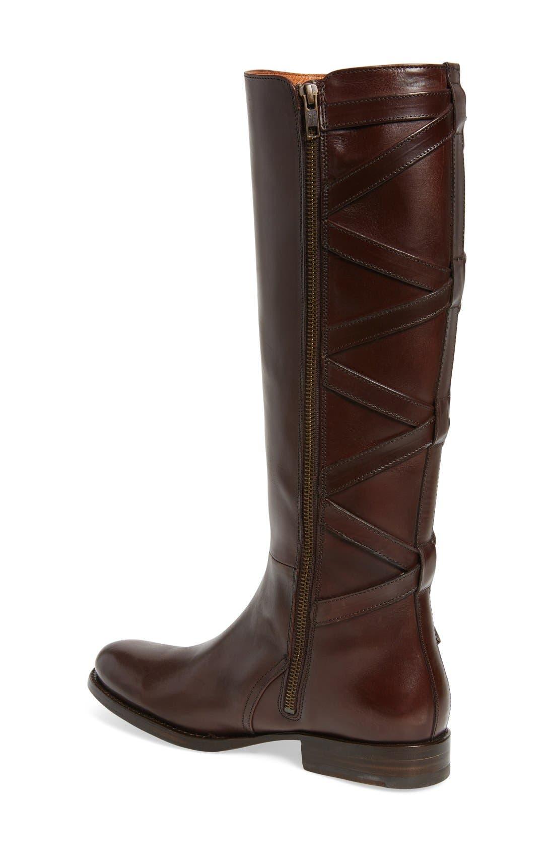 Jordan Strappy Knee High Boot,                             Alternate thumbnail 4, color,