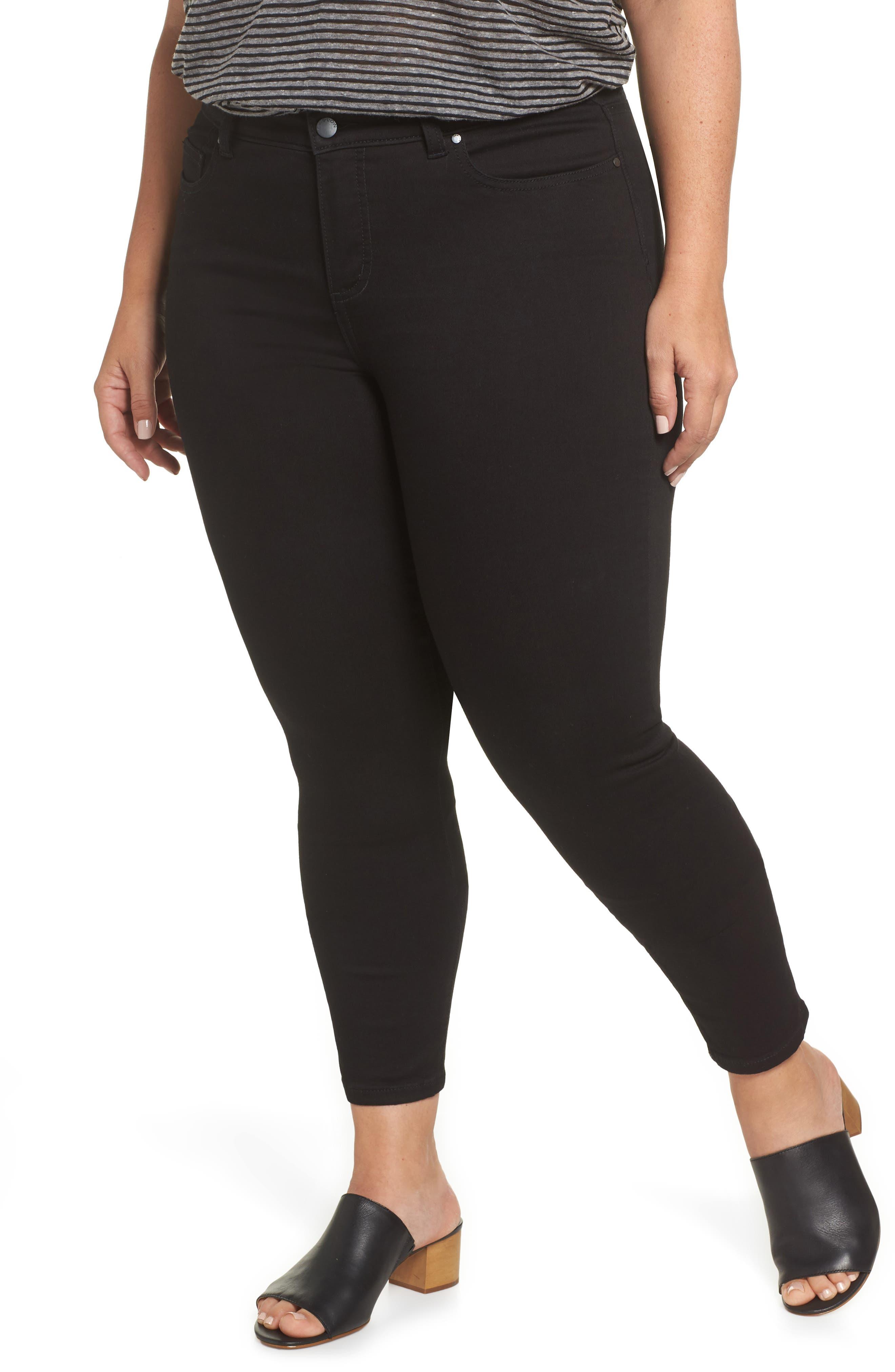Stretch Skinny Jeans,                         Main,                         color, BLACK WASH