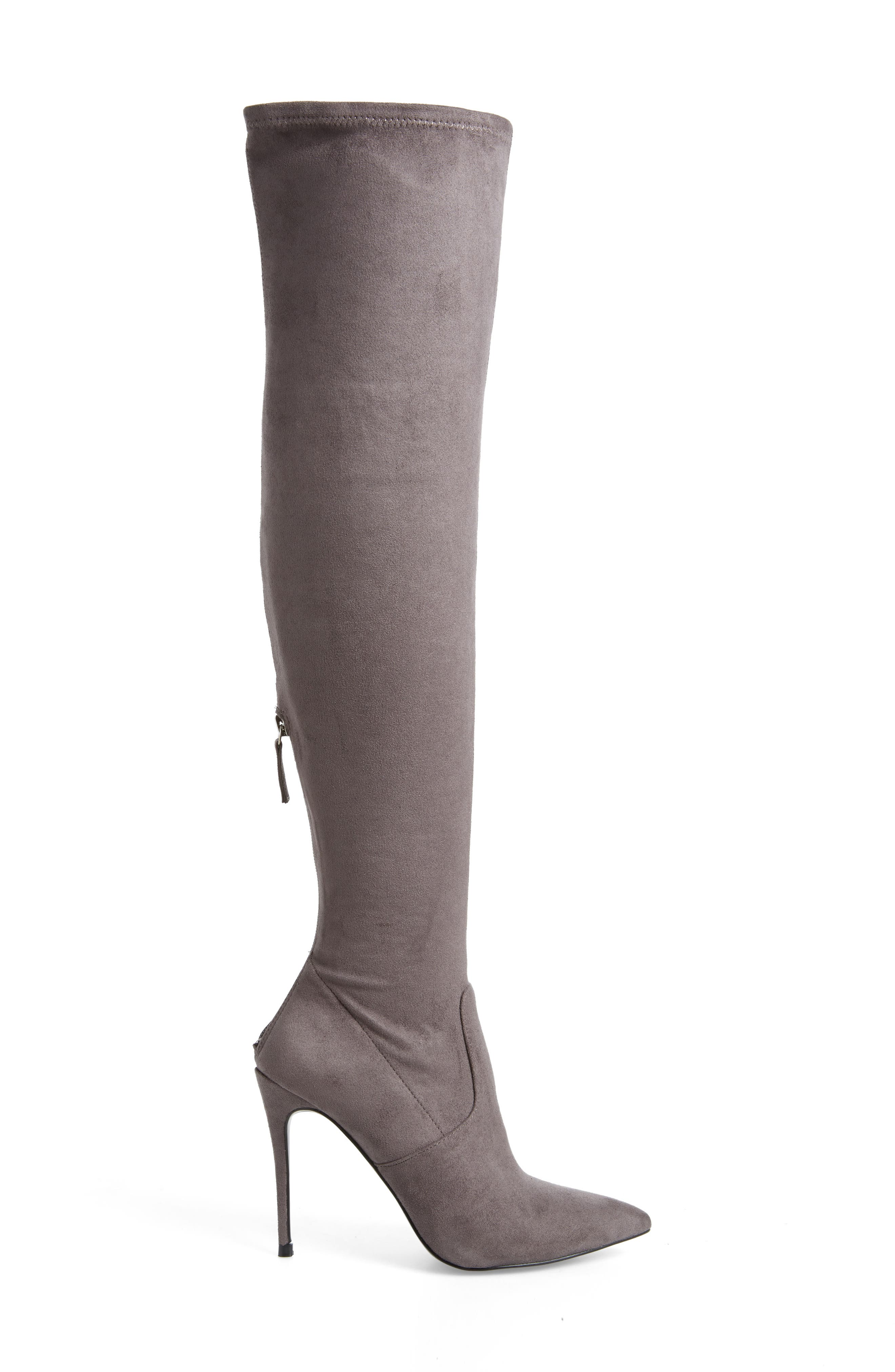 Devine Over the Knee Boot,                             Alternate thumbnail 3, color,                             GREY SUEDE