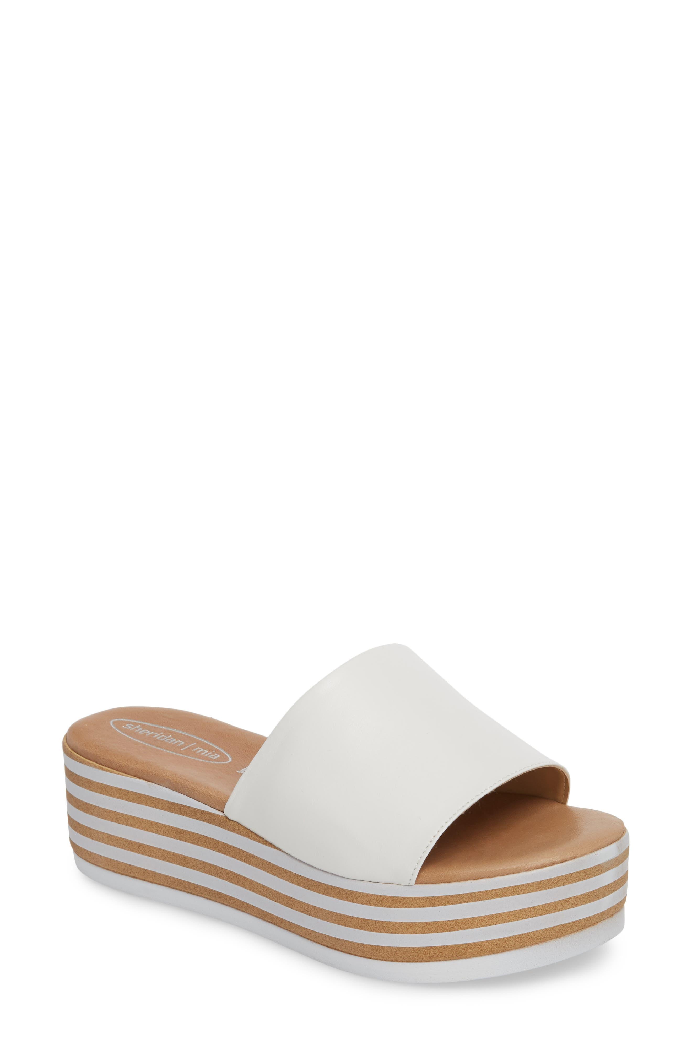 Sheridan Mia Reesa Platform Slide Sandal White