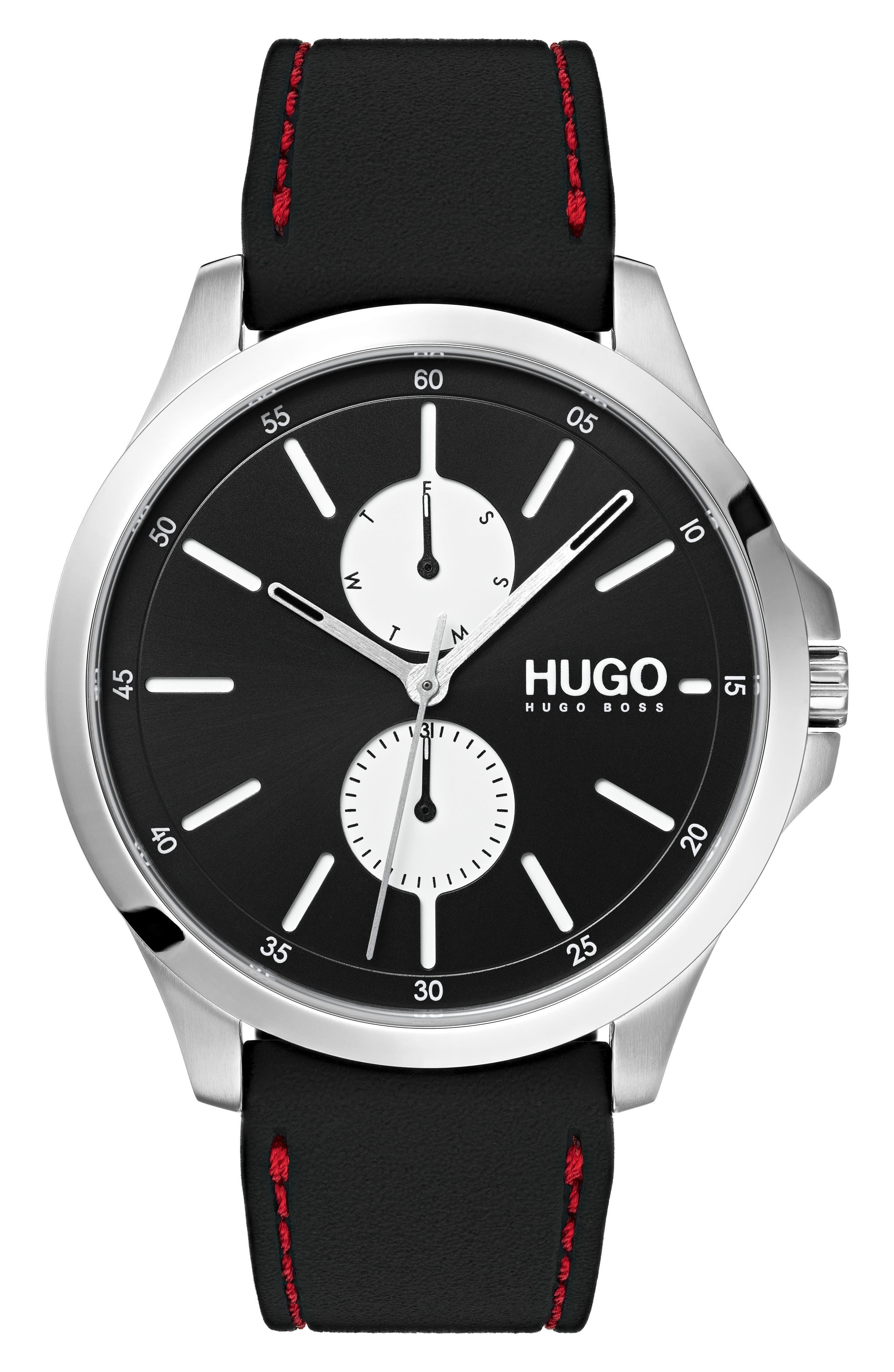 Silicone Strap Watch, 41mm,                         Main,                         color, BLACK