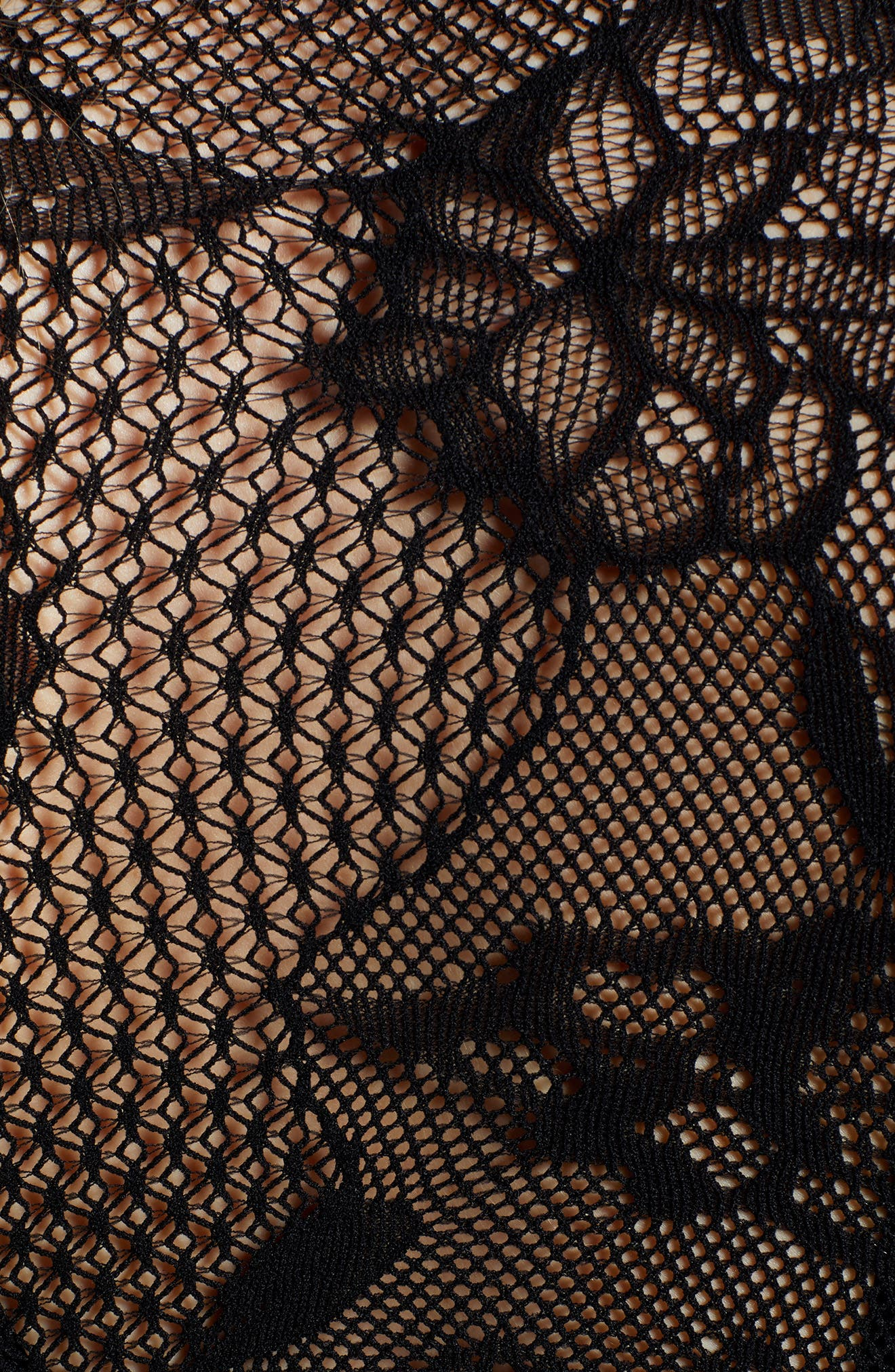 Arm Tights<sup>™</sup> Sheer Lace Crop Top,                             Alternate thumbnail 5, color,                             VERY BLACK