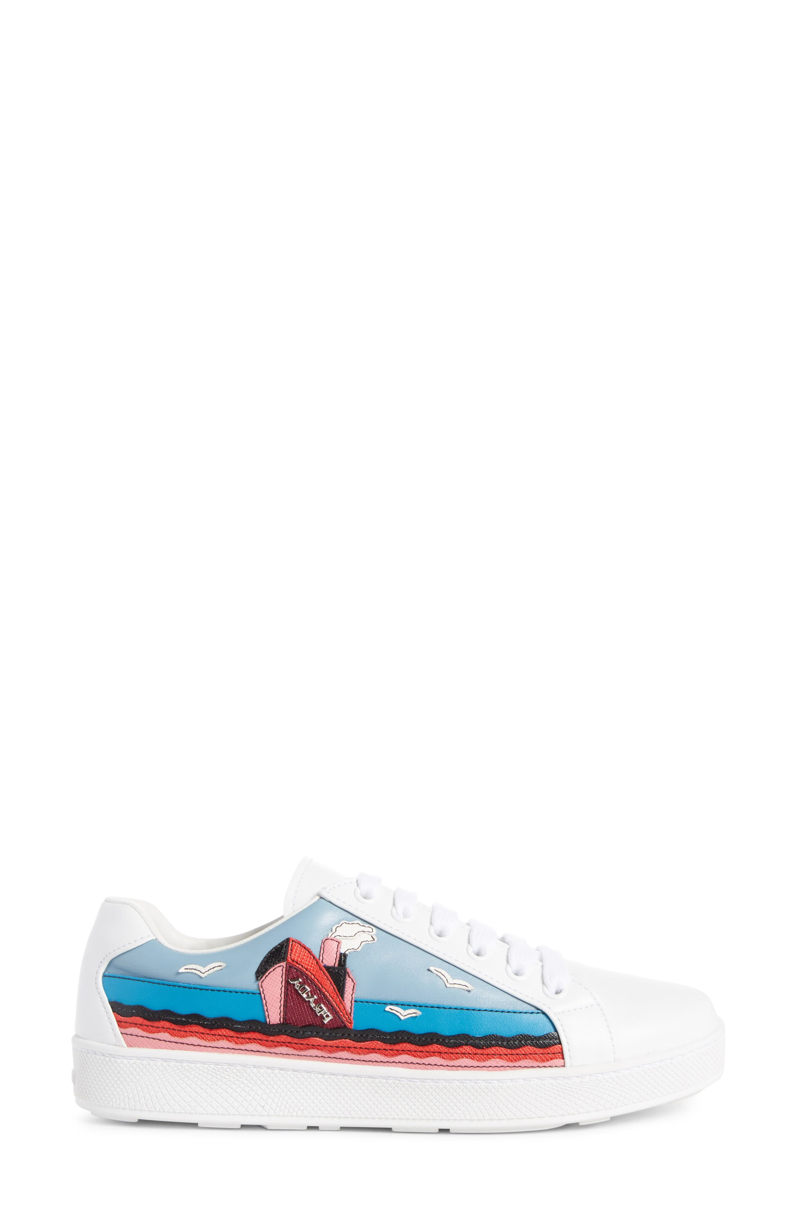 Boat Platform Lace-Up Sneaker,                             Alternate thumbnail 3, color,