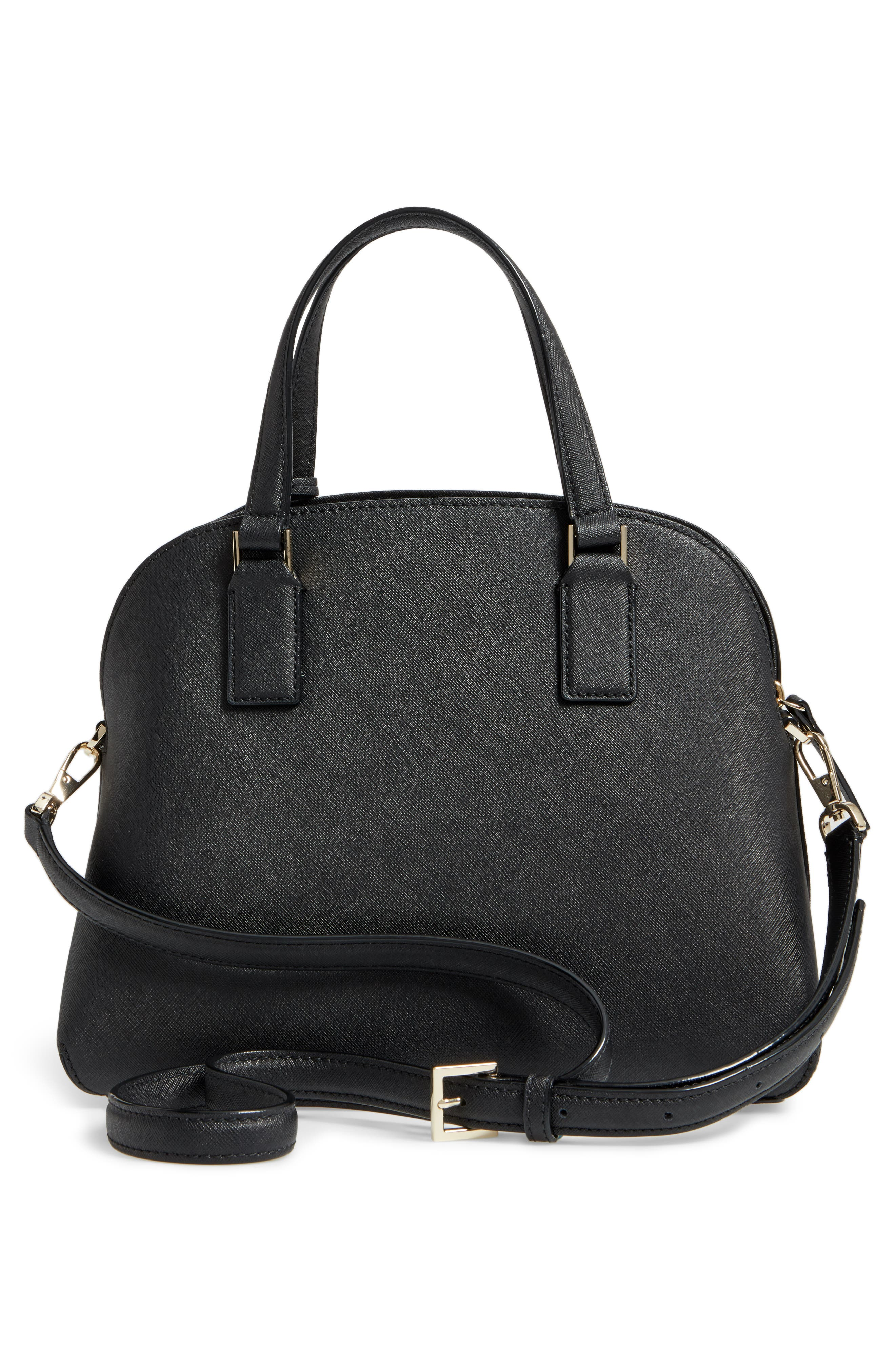 cameron street - lottie leather satchel,                             Alternate thumbnail 3, color,                             001