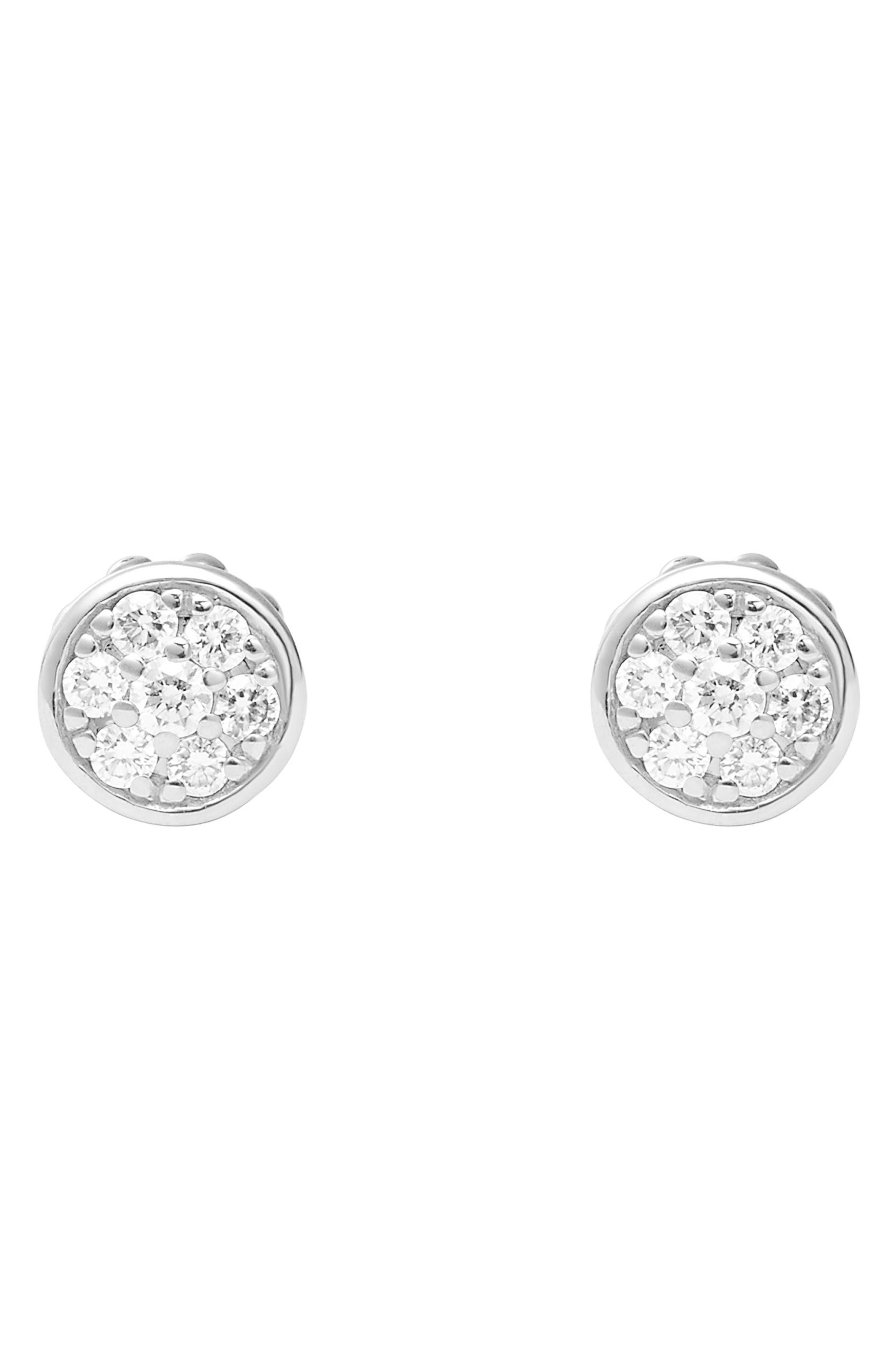 Diamond & Caviar Stud Earrings,                             Alternate thumbnail 2, color,                             040