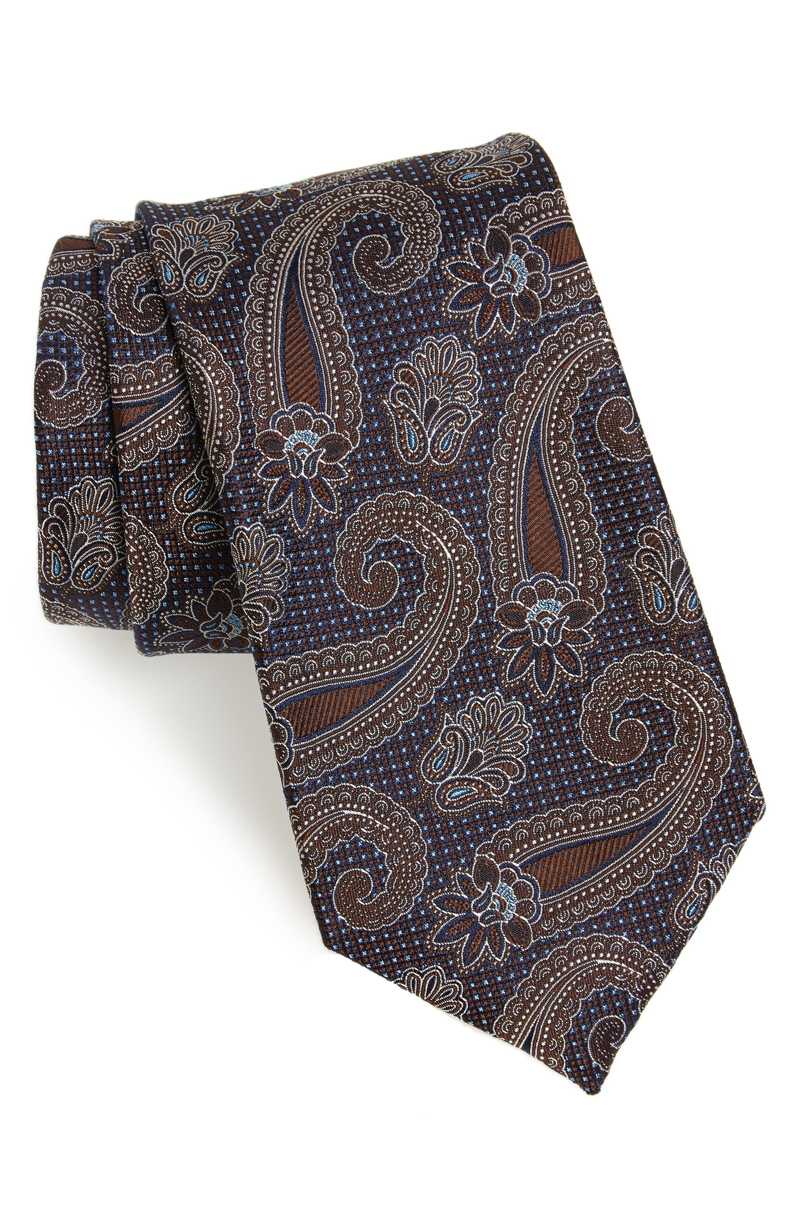 Emery Paisley Silk Tie,                         Main,                         color, 200