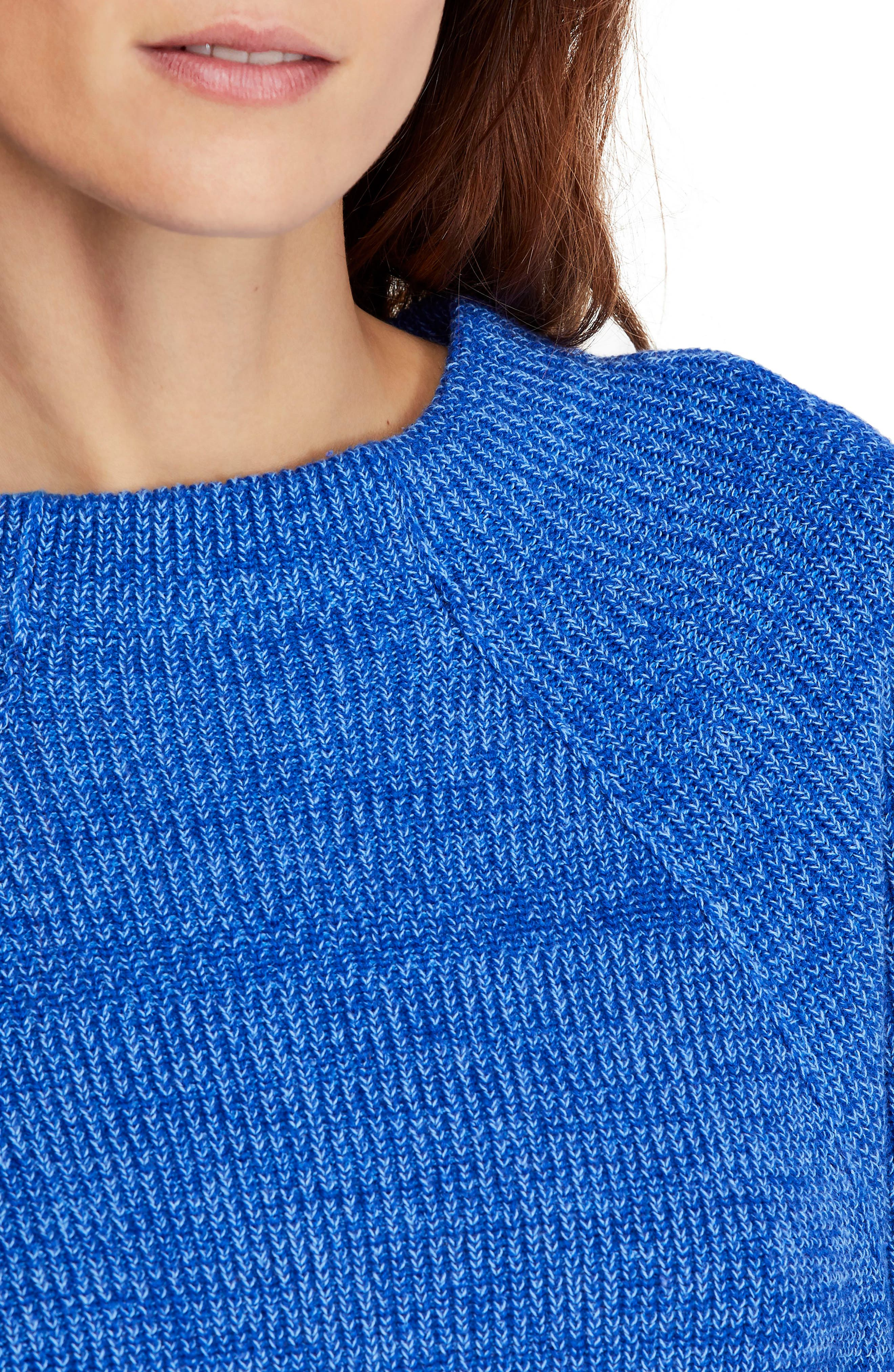 FREE PEOPLE,                             Too Good Sweater,                             Alternate thumbnail 4, color,                             BLUE