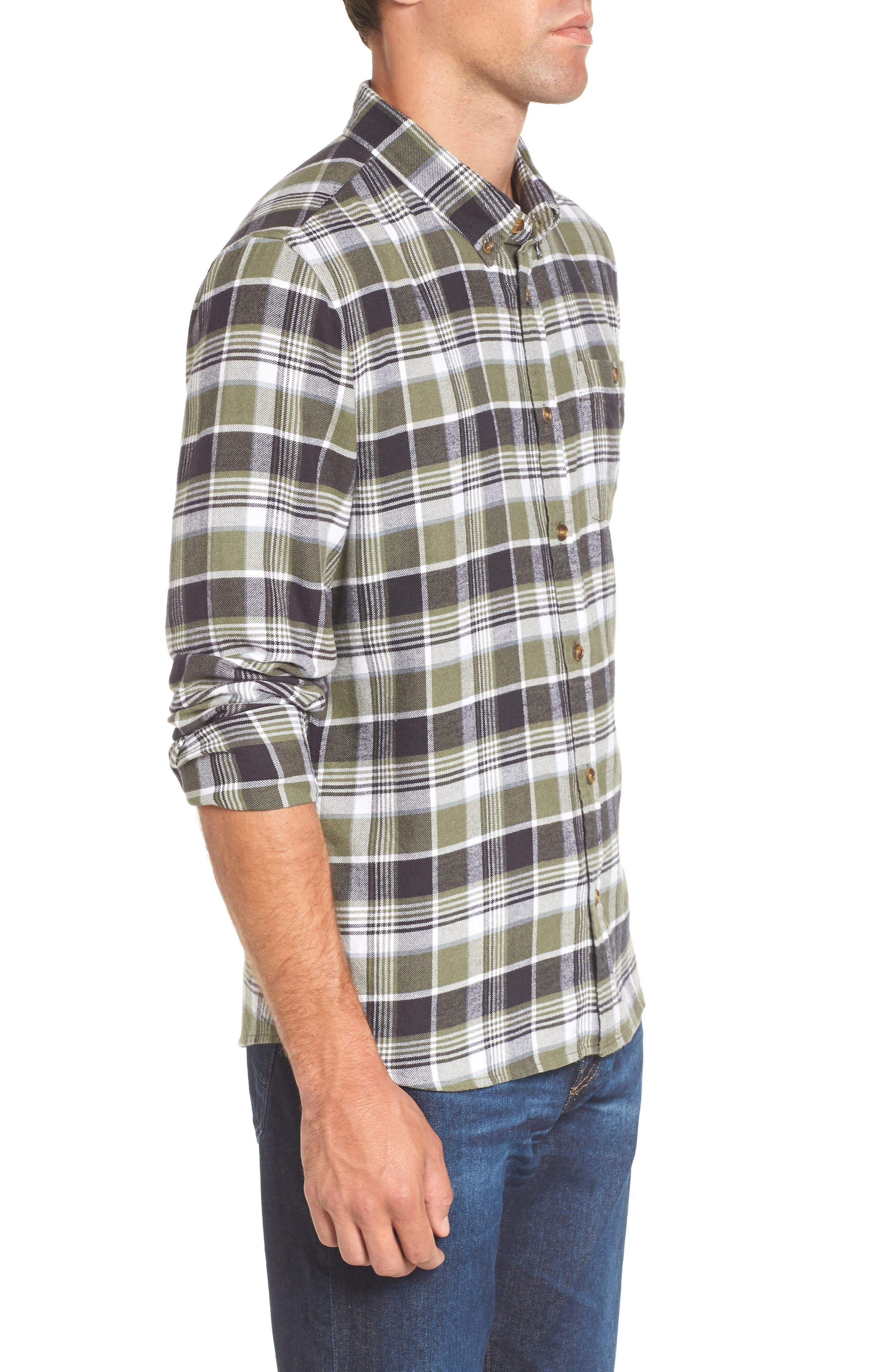 Redmond Regular Fit Plaid Flannel Shirt,                             Alternate thumbnail 3, color,                             301