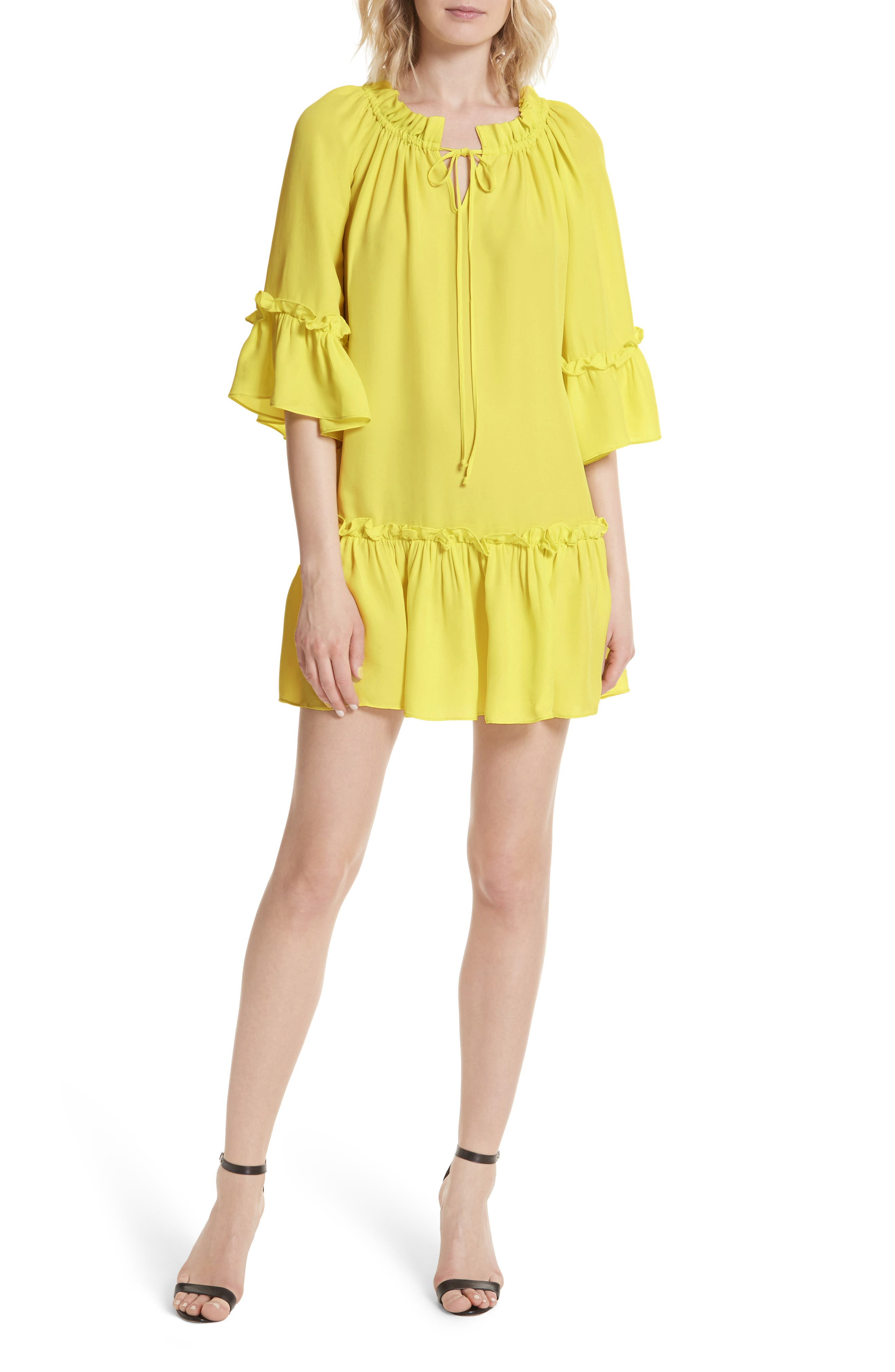 Santorini Ruffle Mini Dress,                         Main,                         color, 750