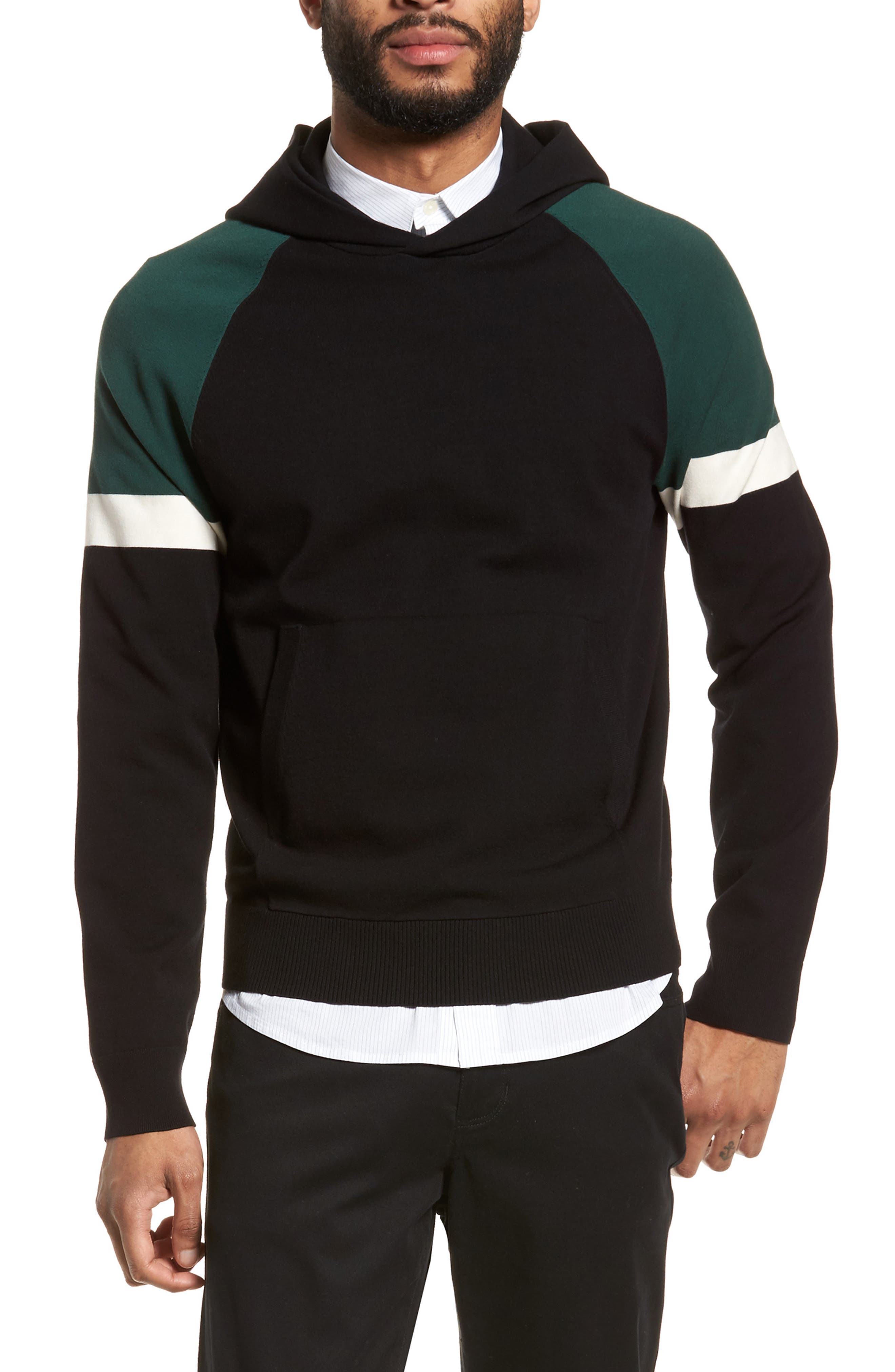 Colorblocked Pullover Hoodie,                             Main thumbnail 1, color,