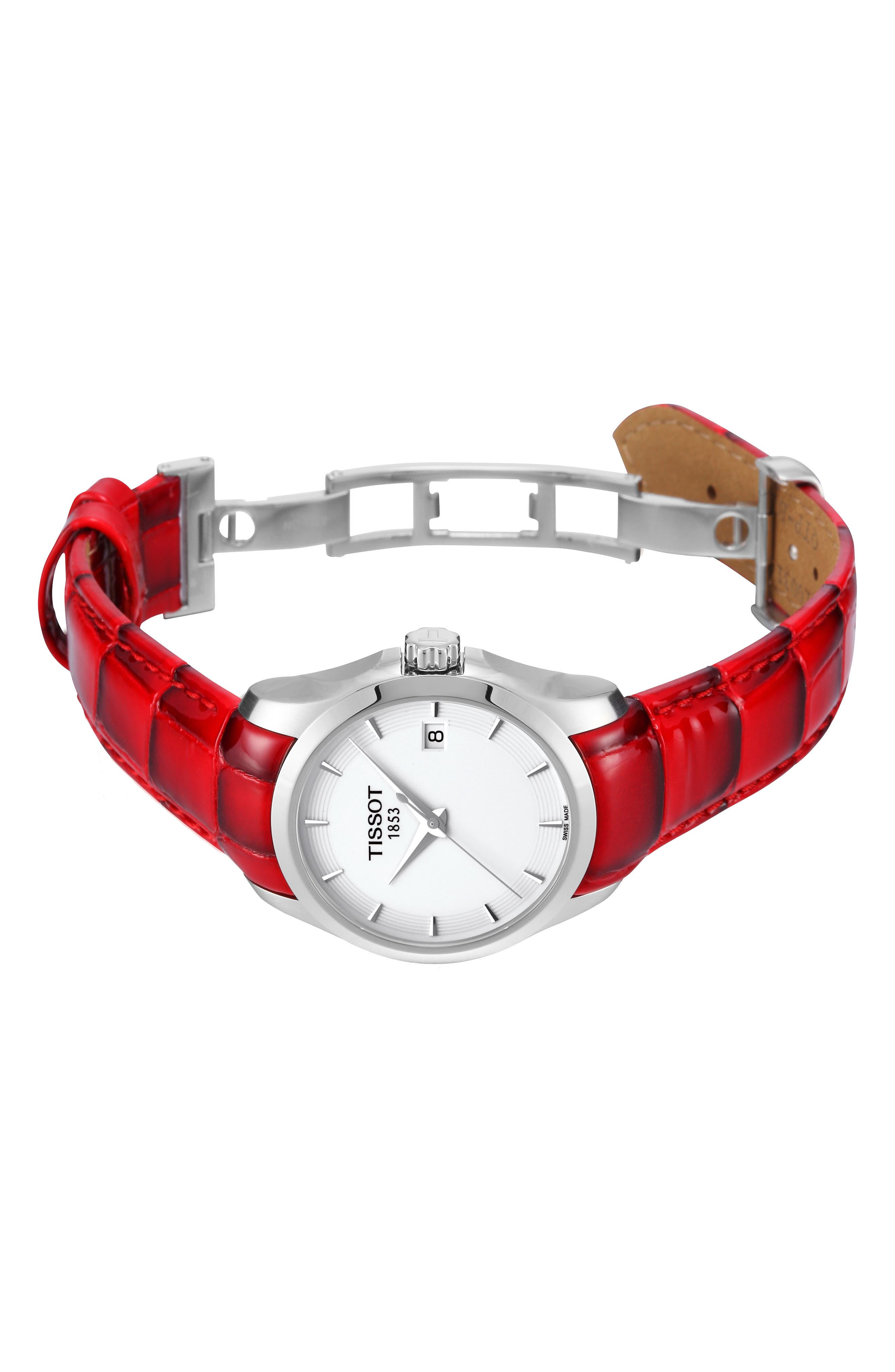 Couturier Leather Strap Watch, 32mm,                             Alternate thumbnail 6, color,                             600