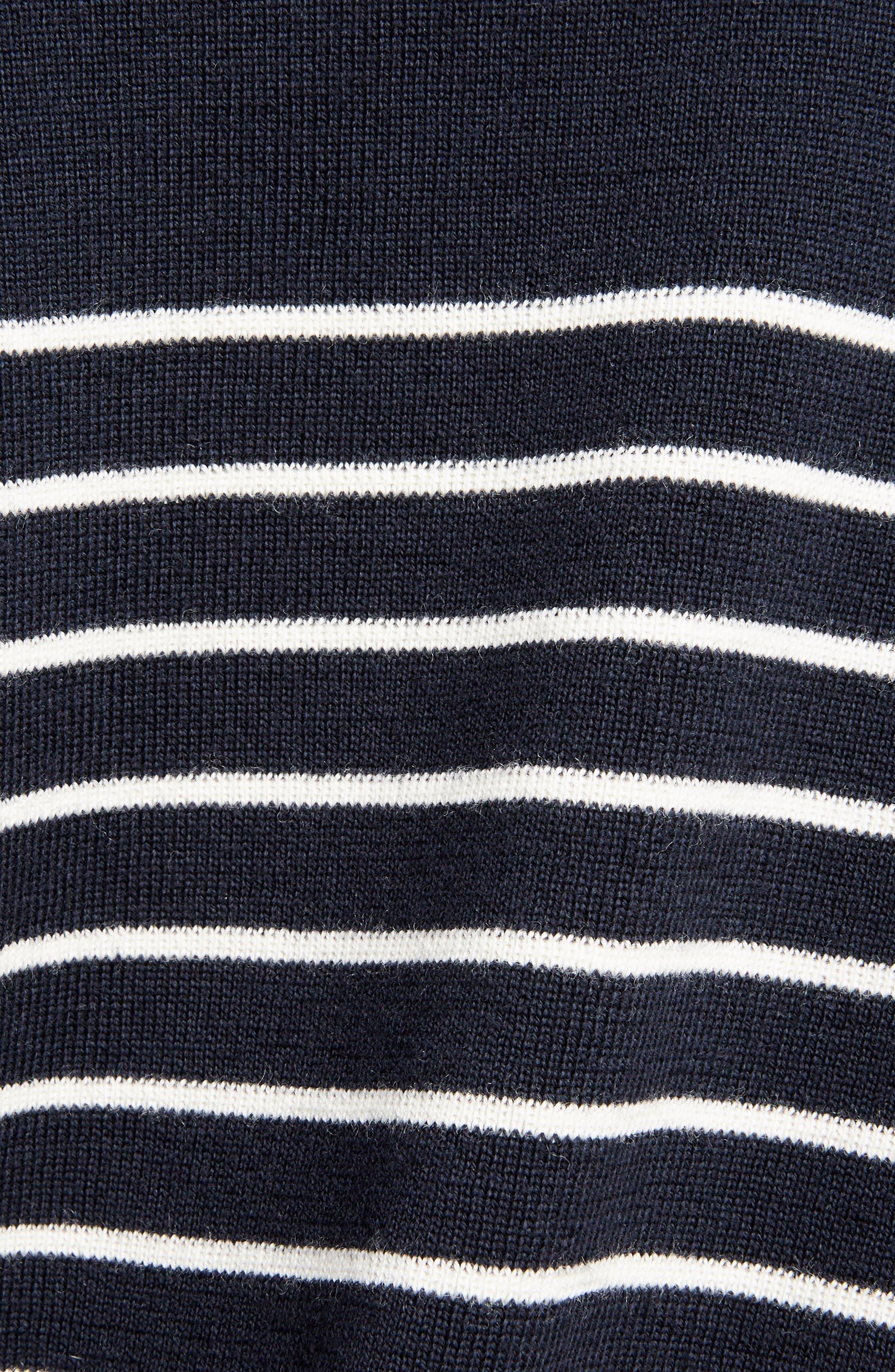 Circular Marinière Knit Top,                             Alternate thumbnail 5, color,                             400